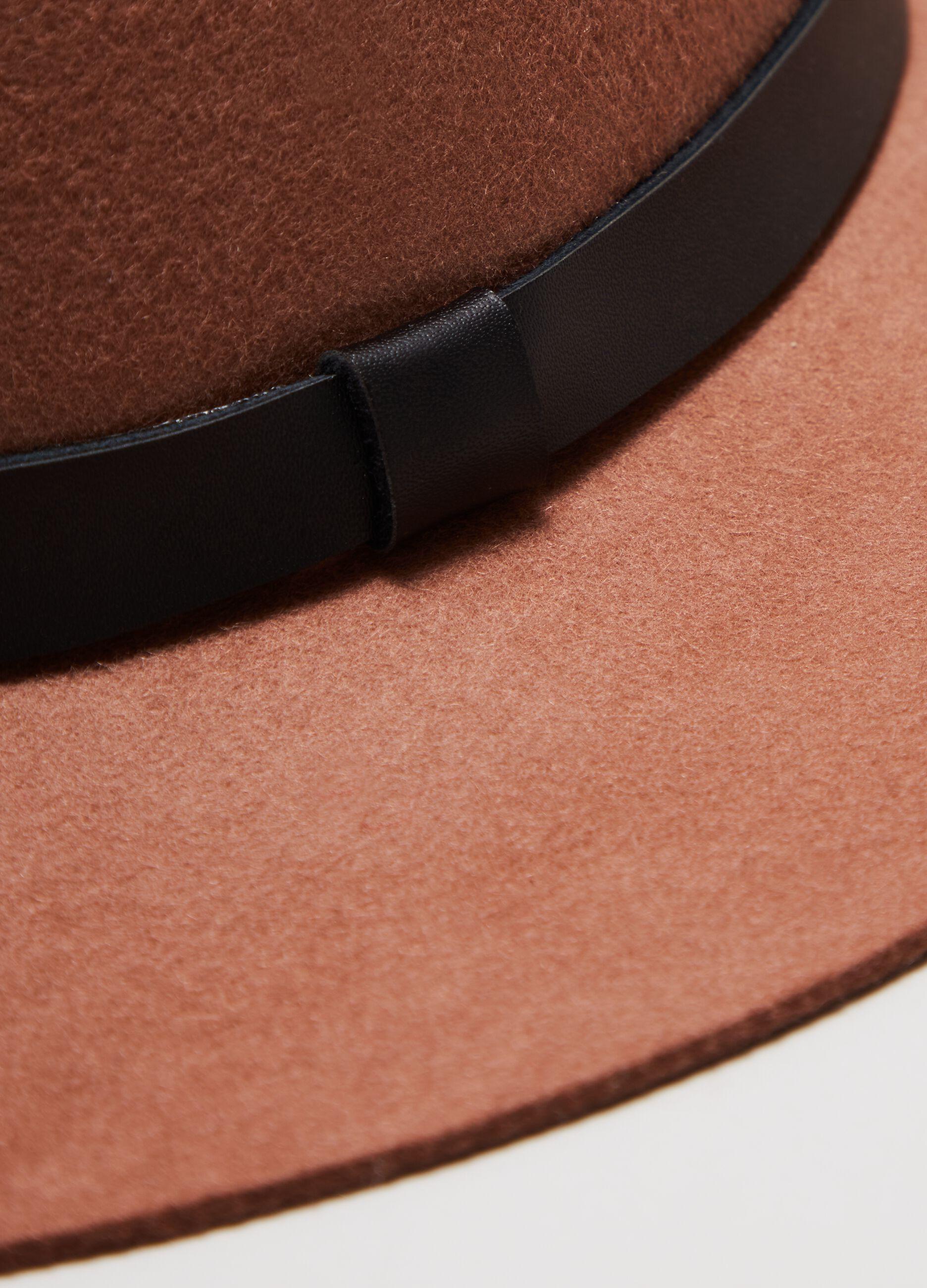 Cappello fedora in pura lana Marrone
