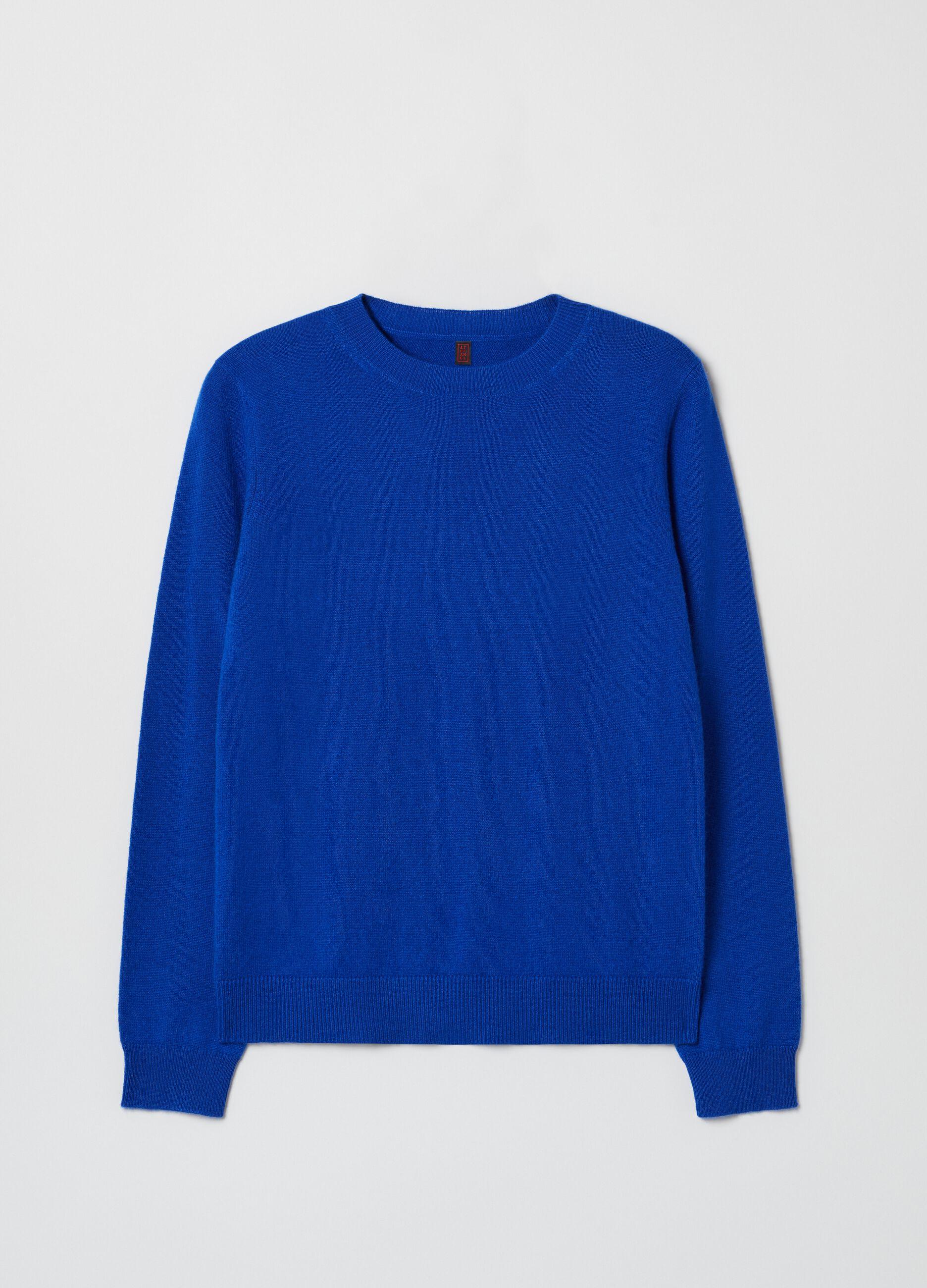 Girocollo in puro cachemire Blu