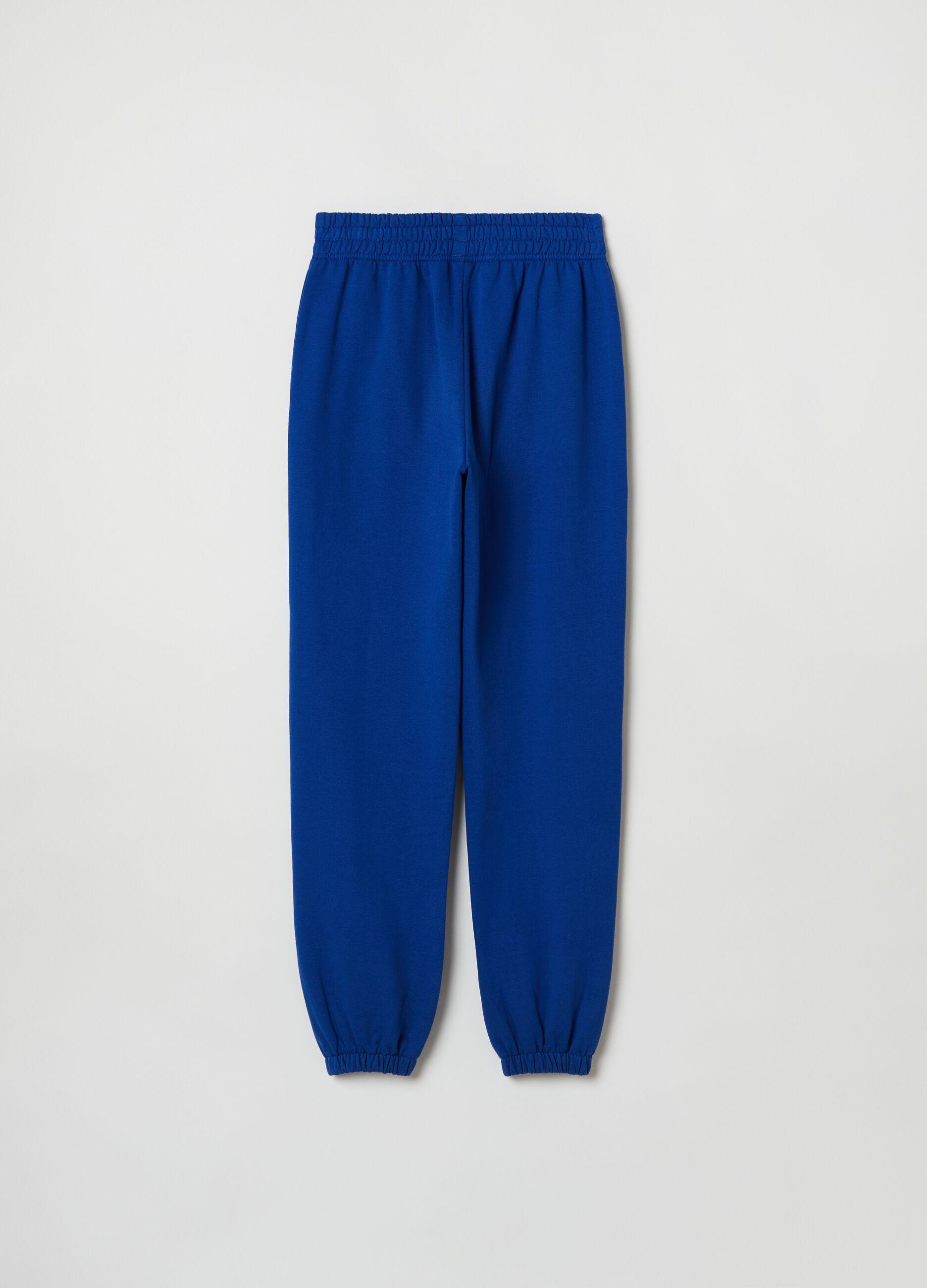 Pantalone in felpa bold color Blu
