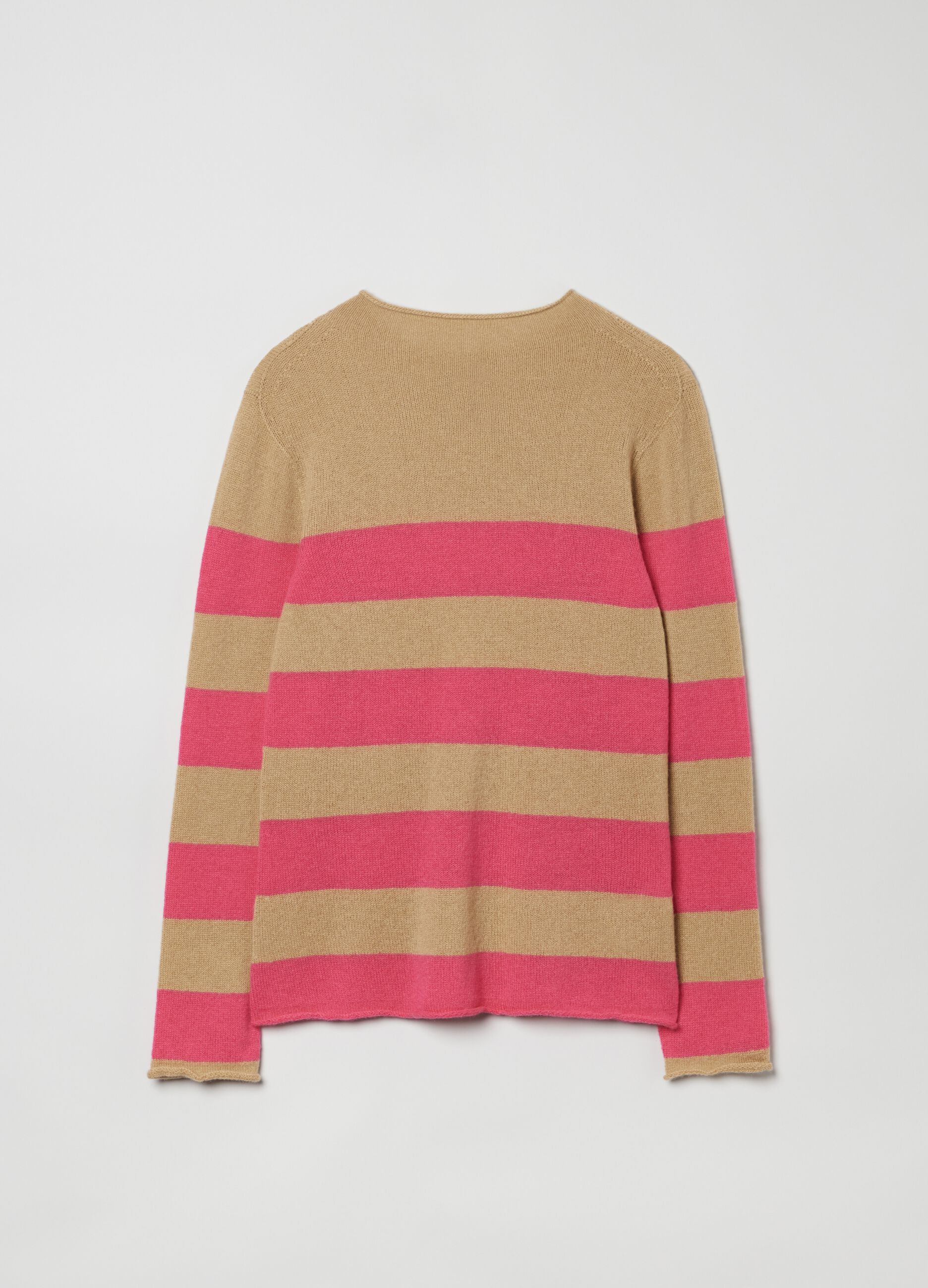 Pullover in puro cachemire a righe Multicolor