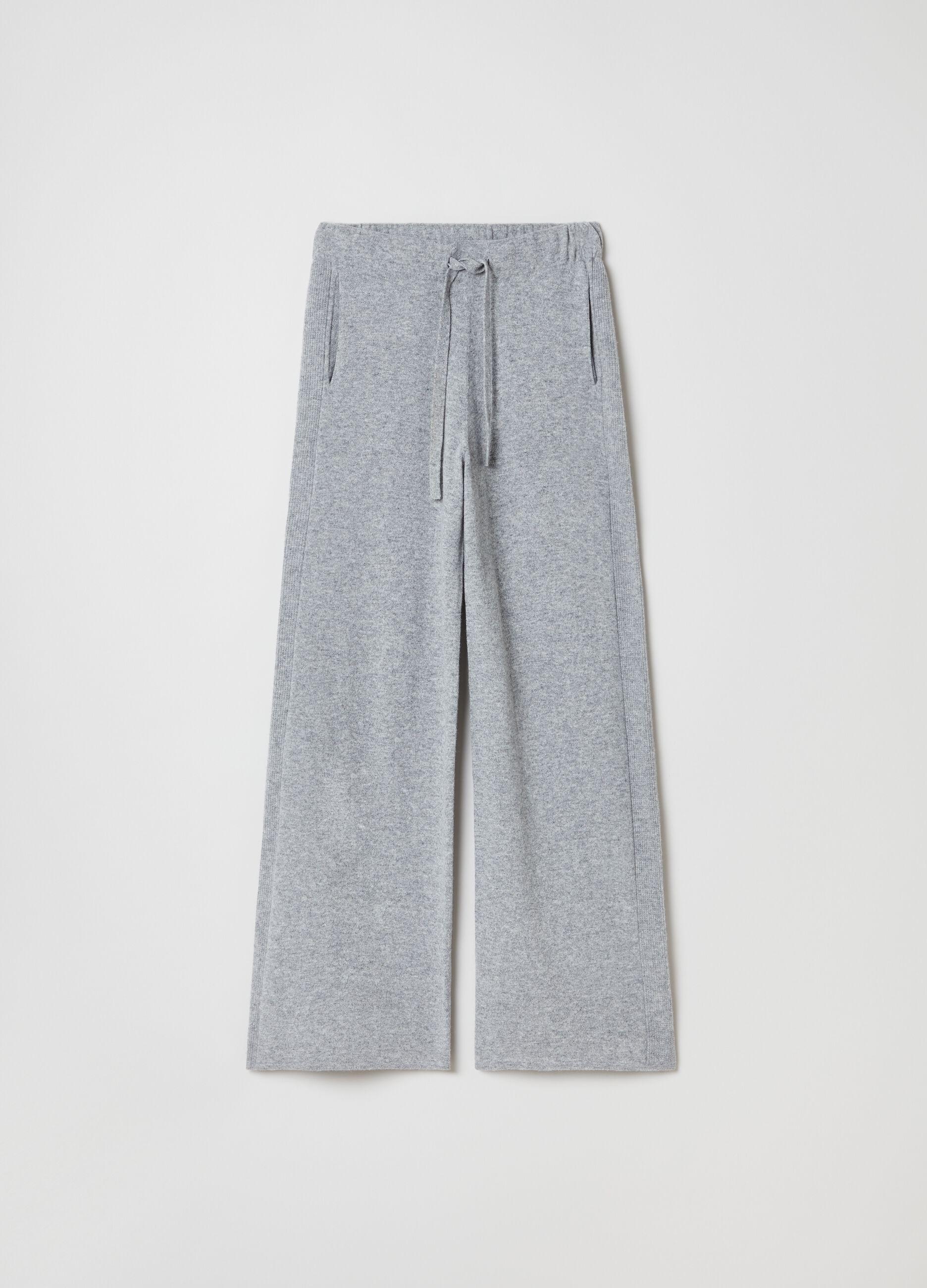 Pantalone in maglia di pura lana seamless Grigio