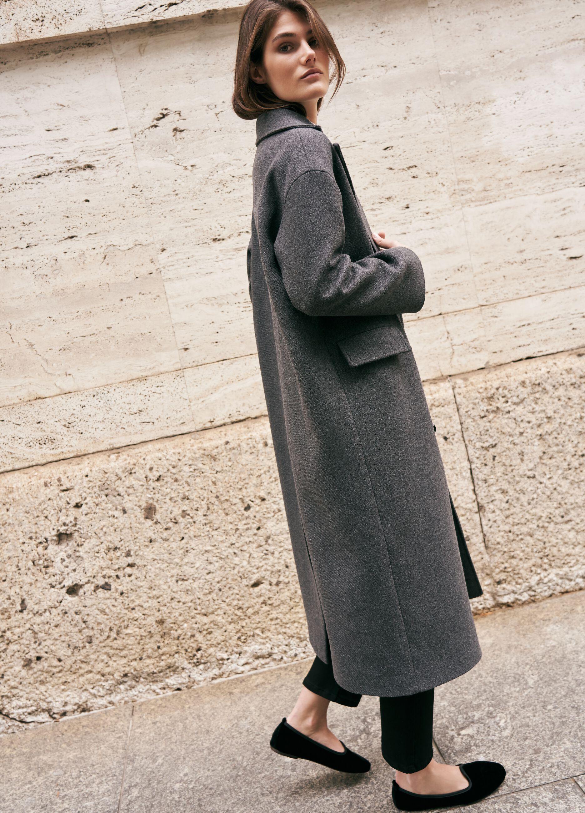Cappotto lungo doppiopetto Grigio