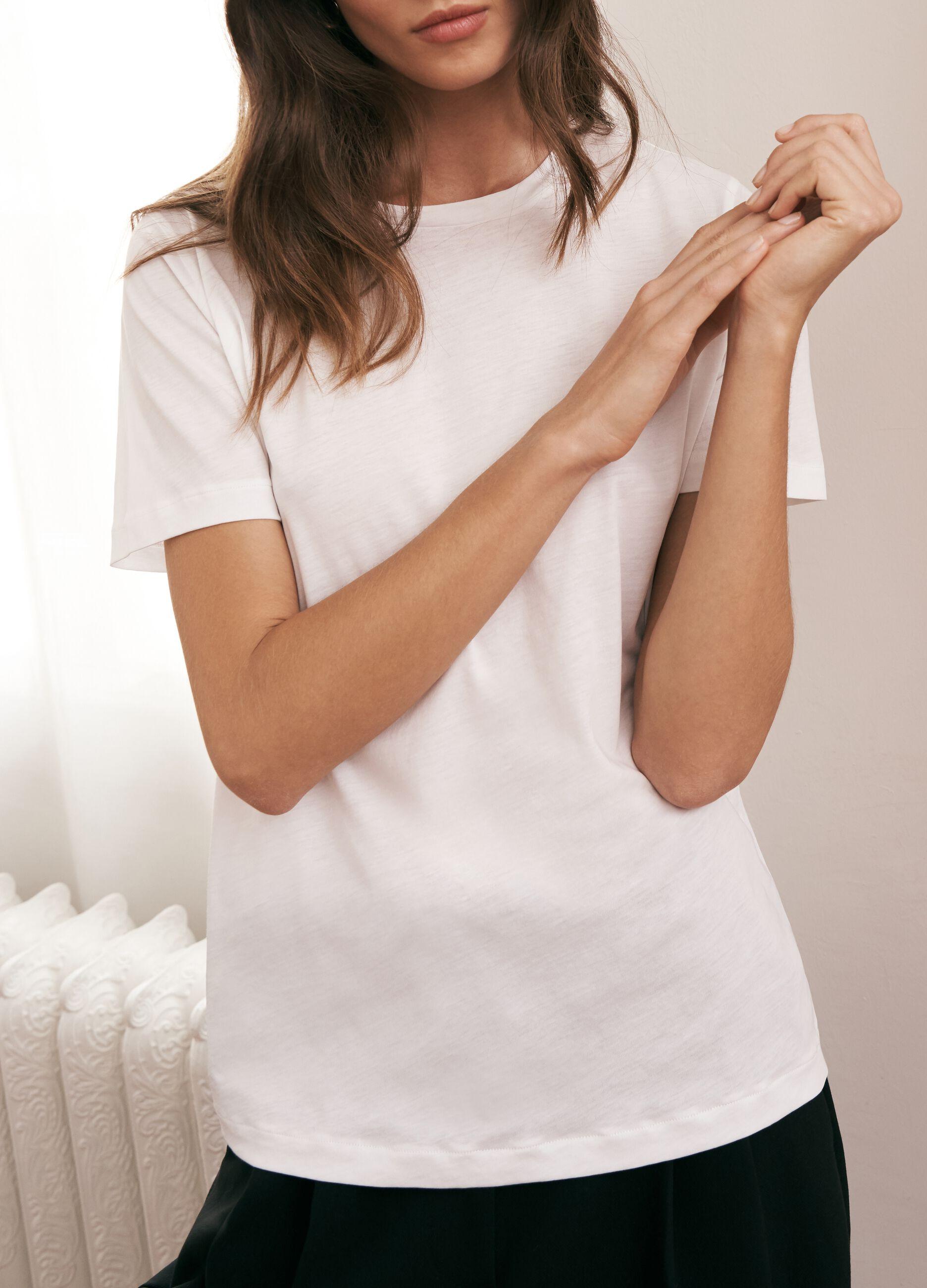 T-shirt in cotone Supima Bianco