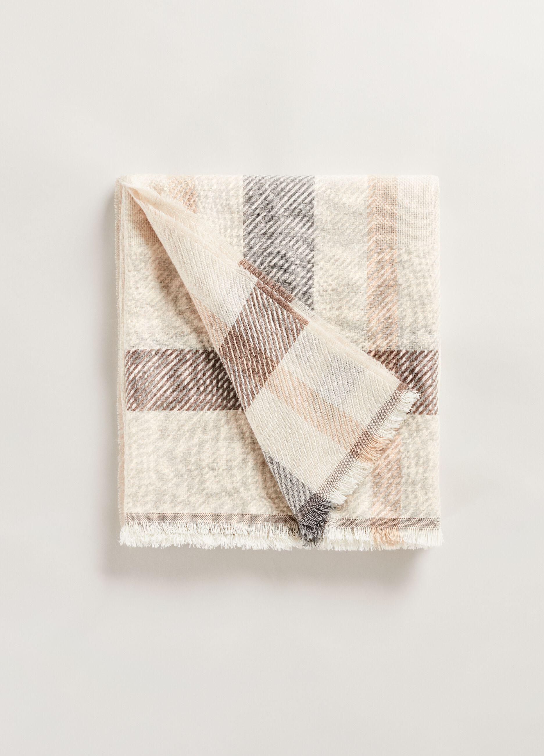 Check maxi scarf Multicolor
