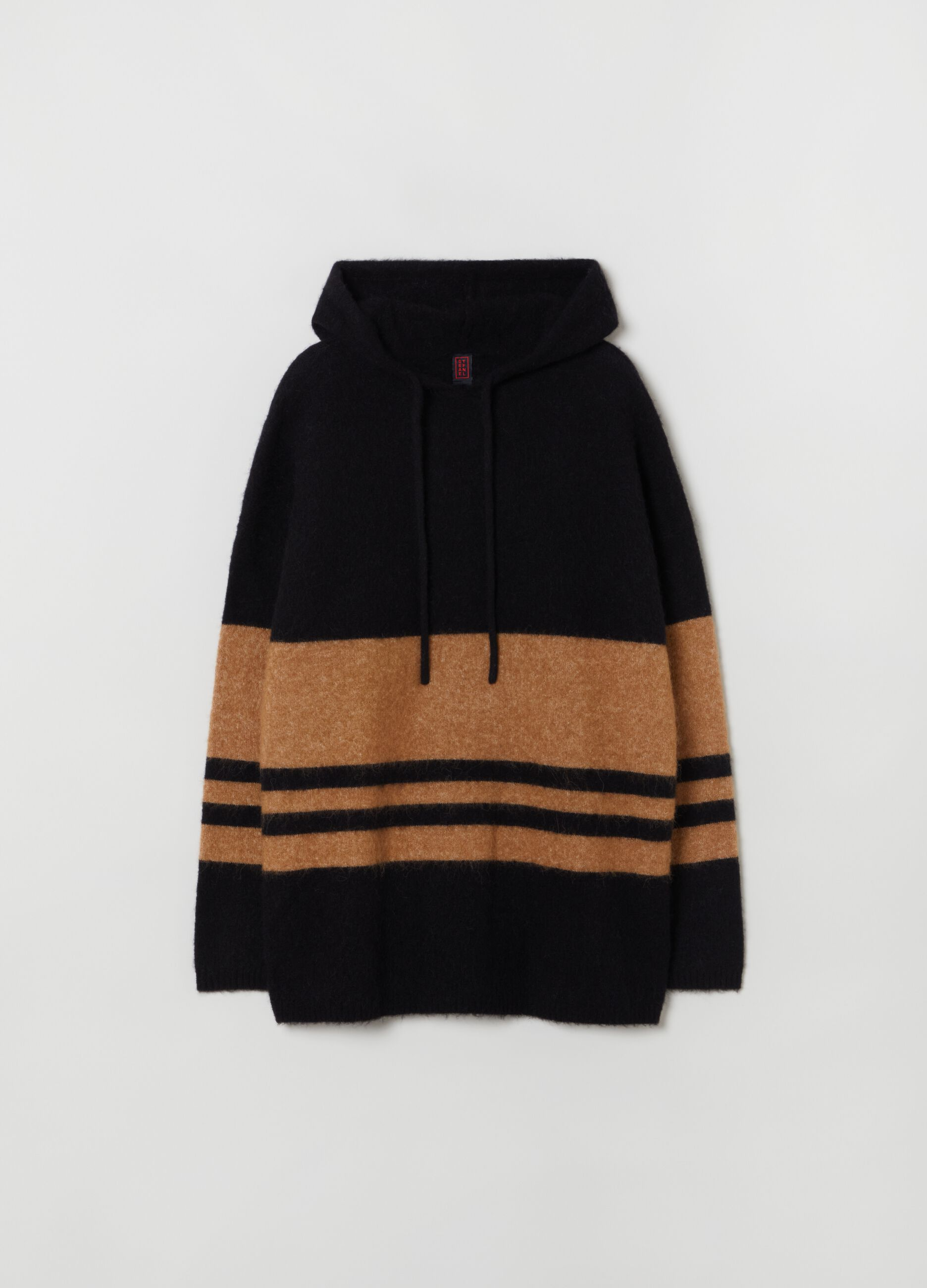 Alpaca and merino wool knit top Multicolor