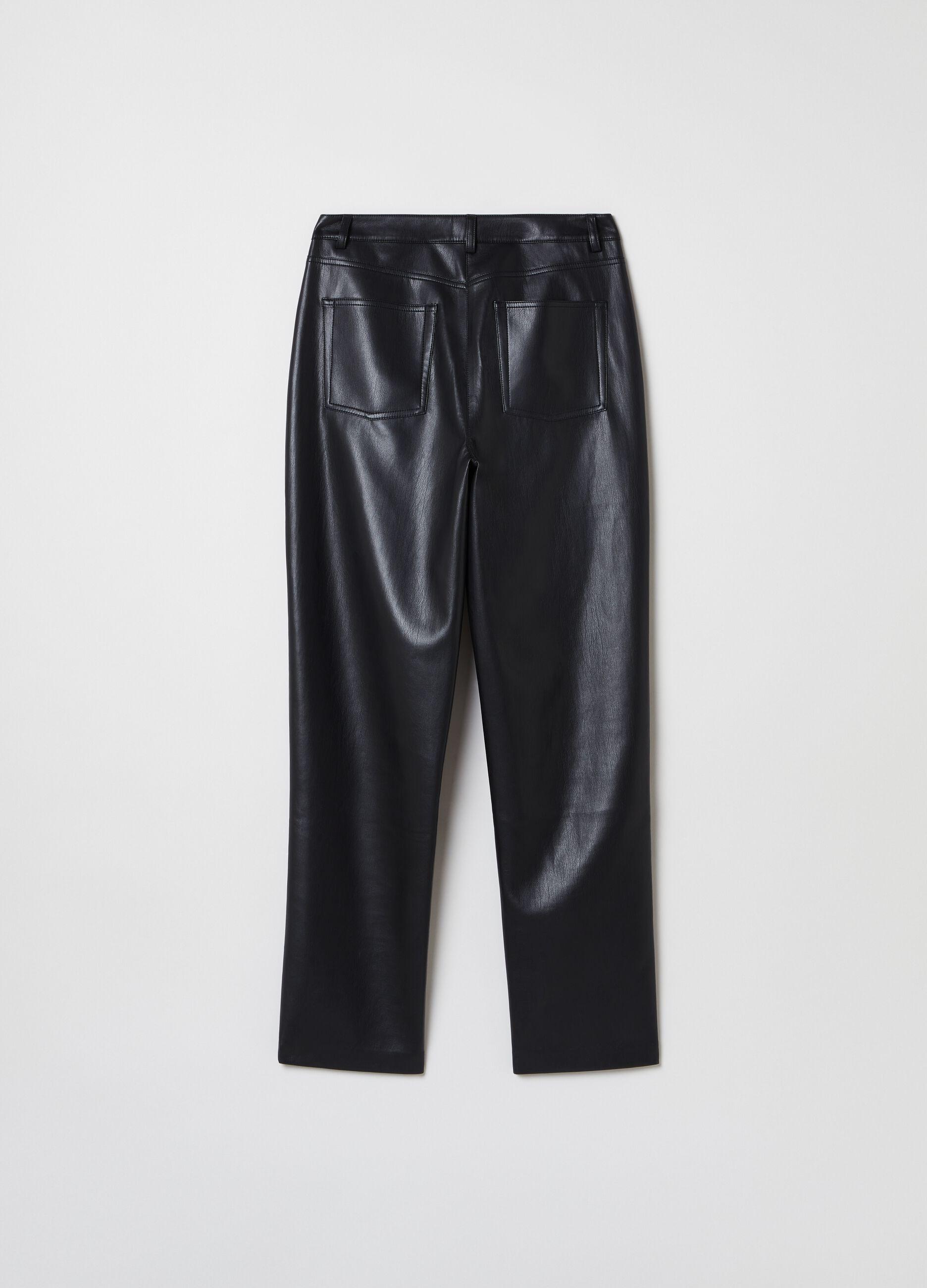 Five-pocket slim-fit trousers Black