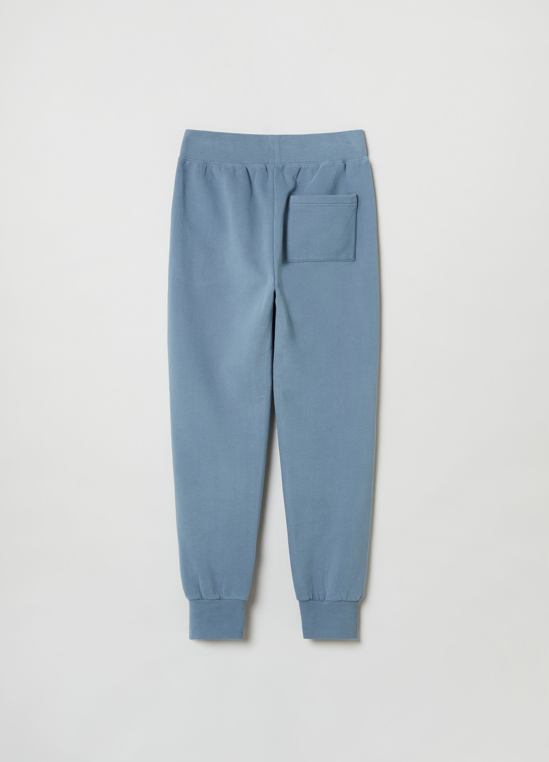 Pantalone jogging in felpa slim fit Blu