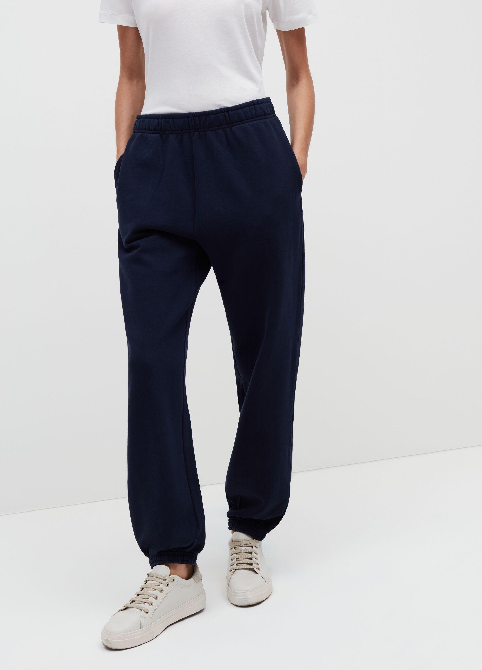 Pantalone jogging in felpa Blu