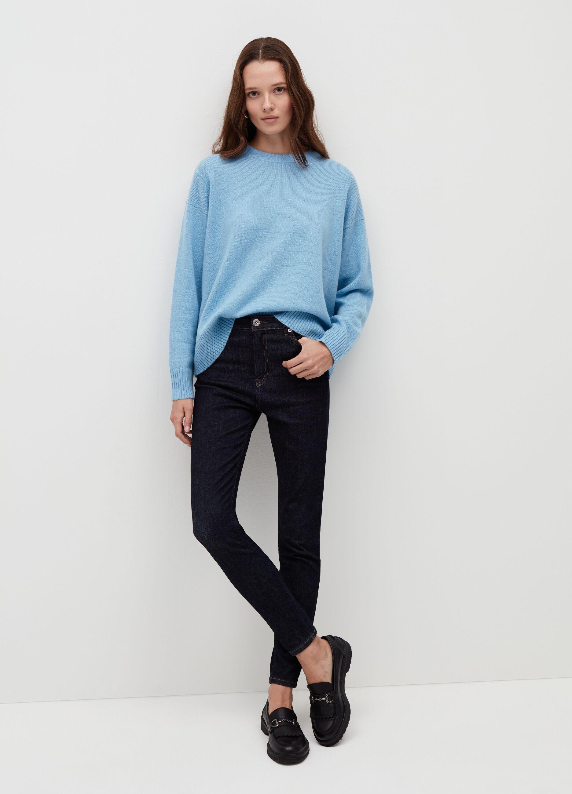 Jeans skinny fit in cotone super stretch Blu