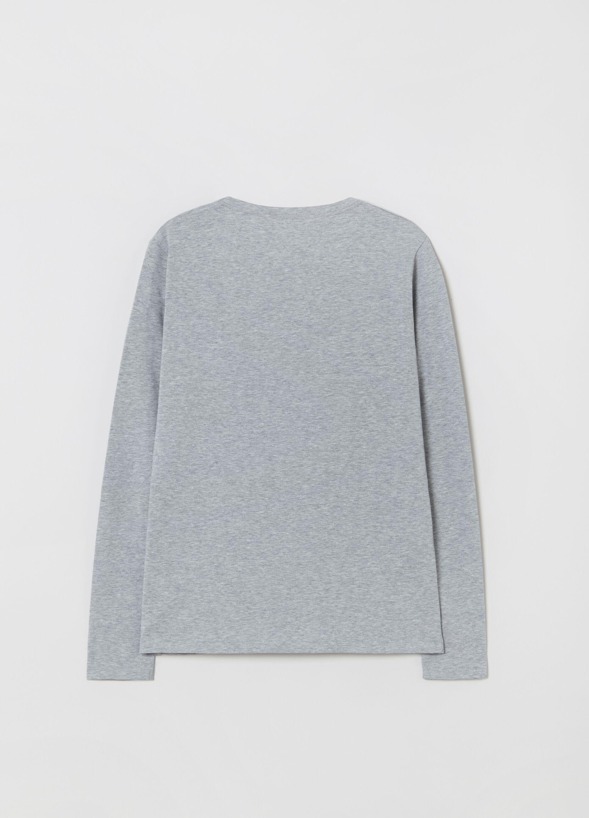 T-shirt in cotone Supima stretch Grigio