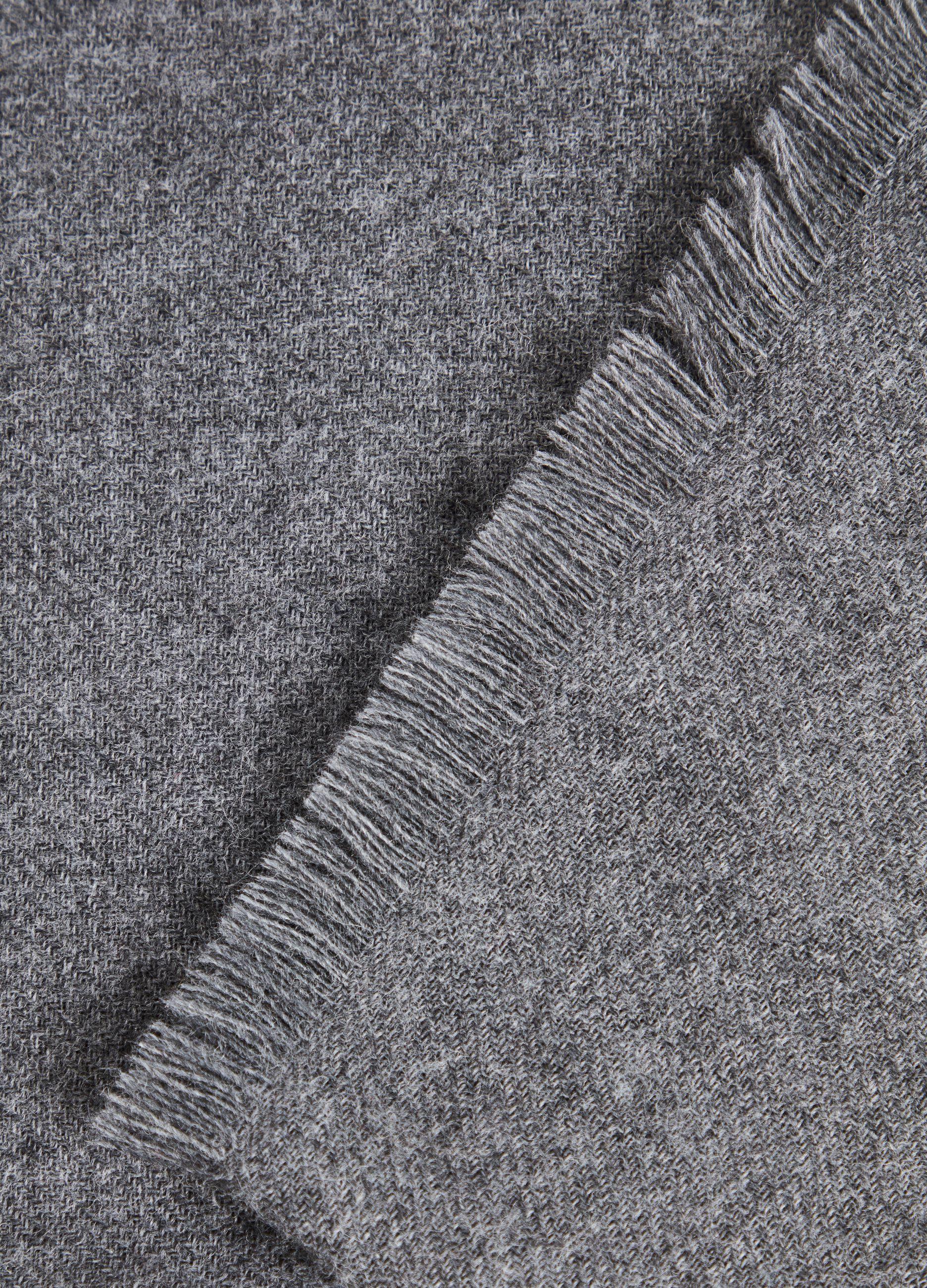 Sciarpa in lana e alpaca Grigio