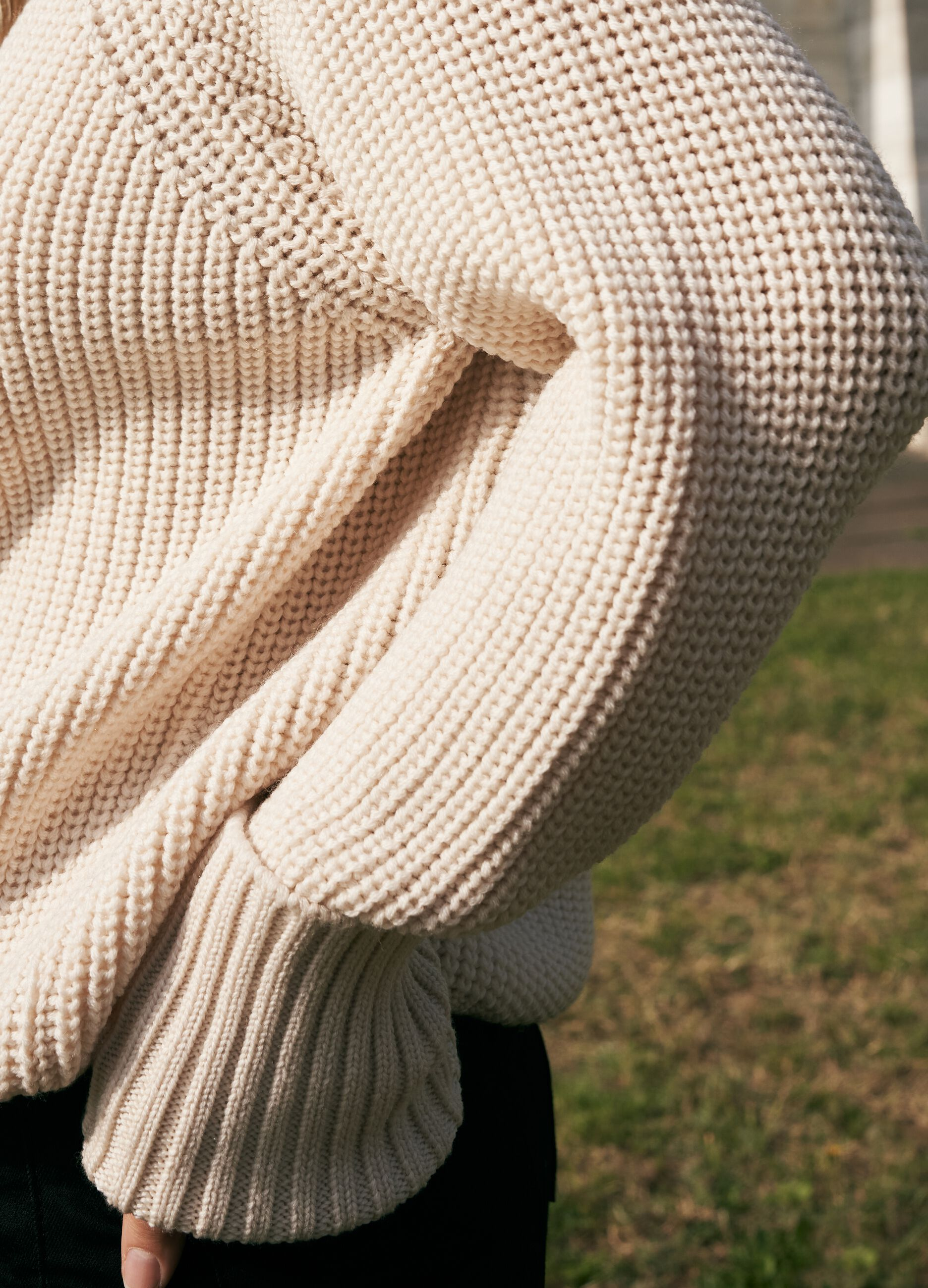 Dolcevita oversize in pura lana Beige