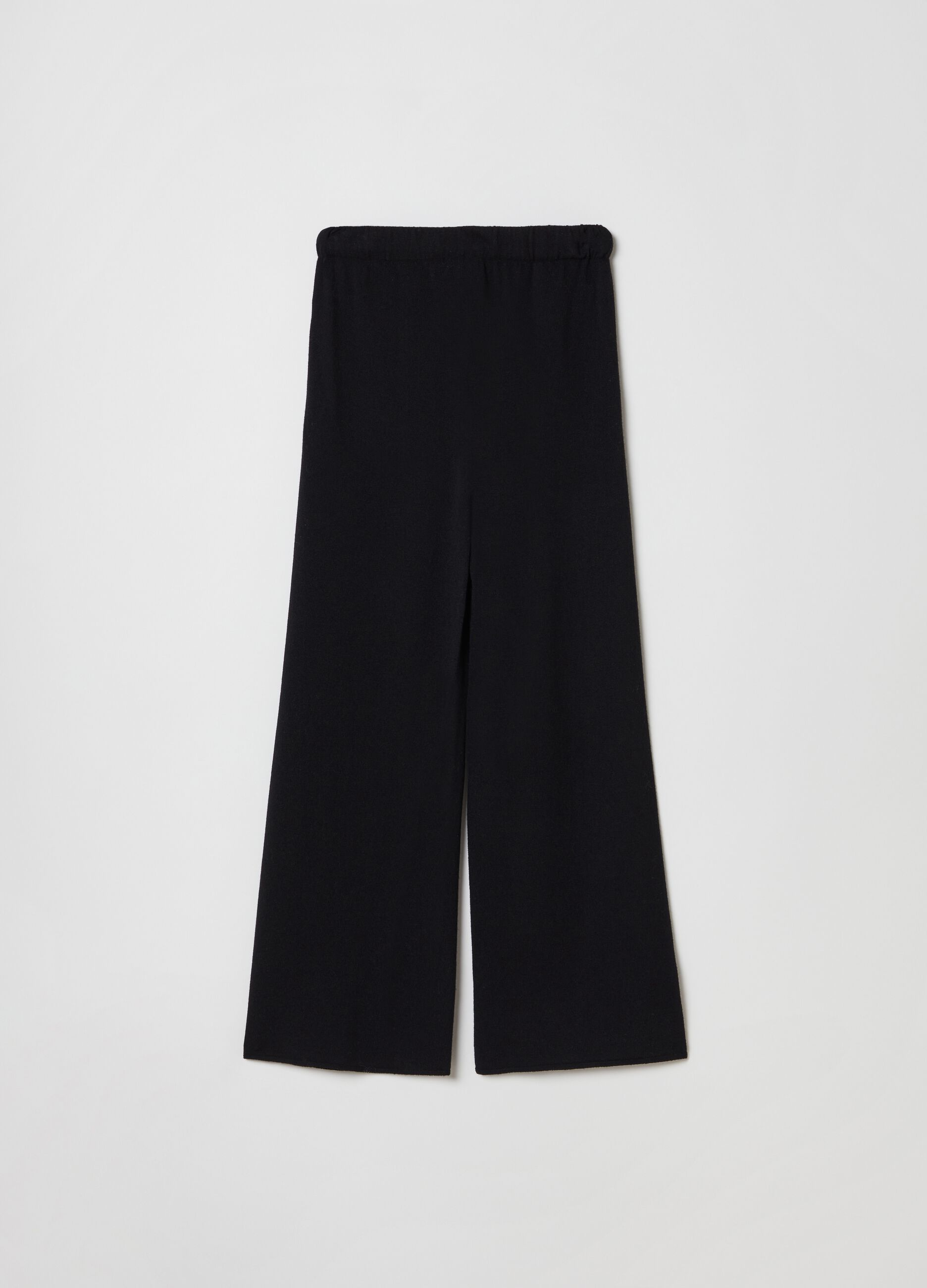 Pantalone in maglia di lana e cachemire Nero