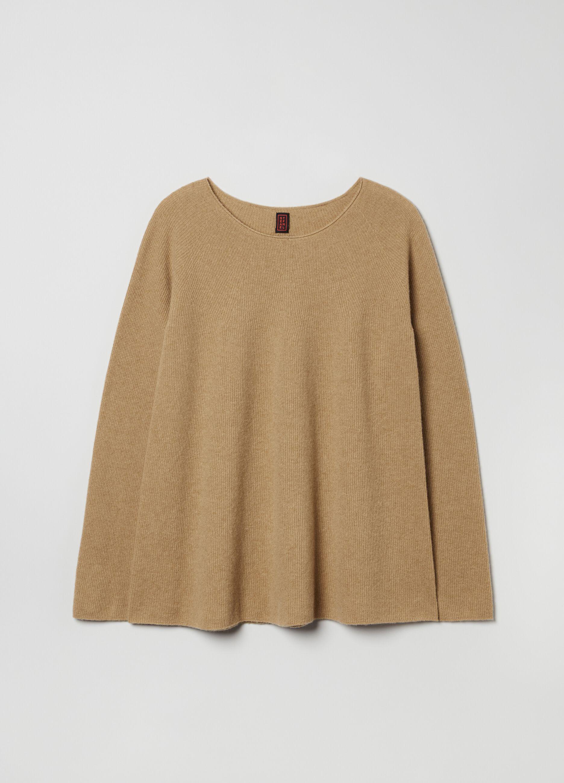 Pullover in pura lana senza cuciture Marrone