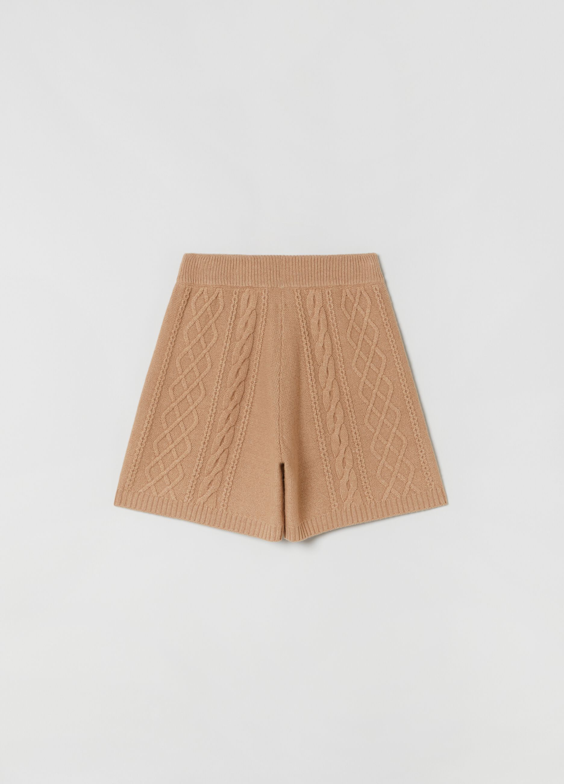 Shorts in maglia Beige