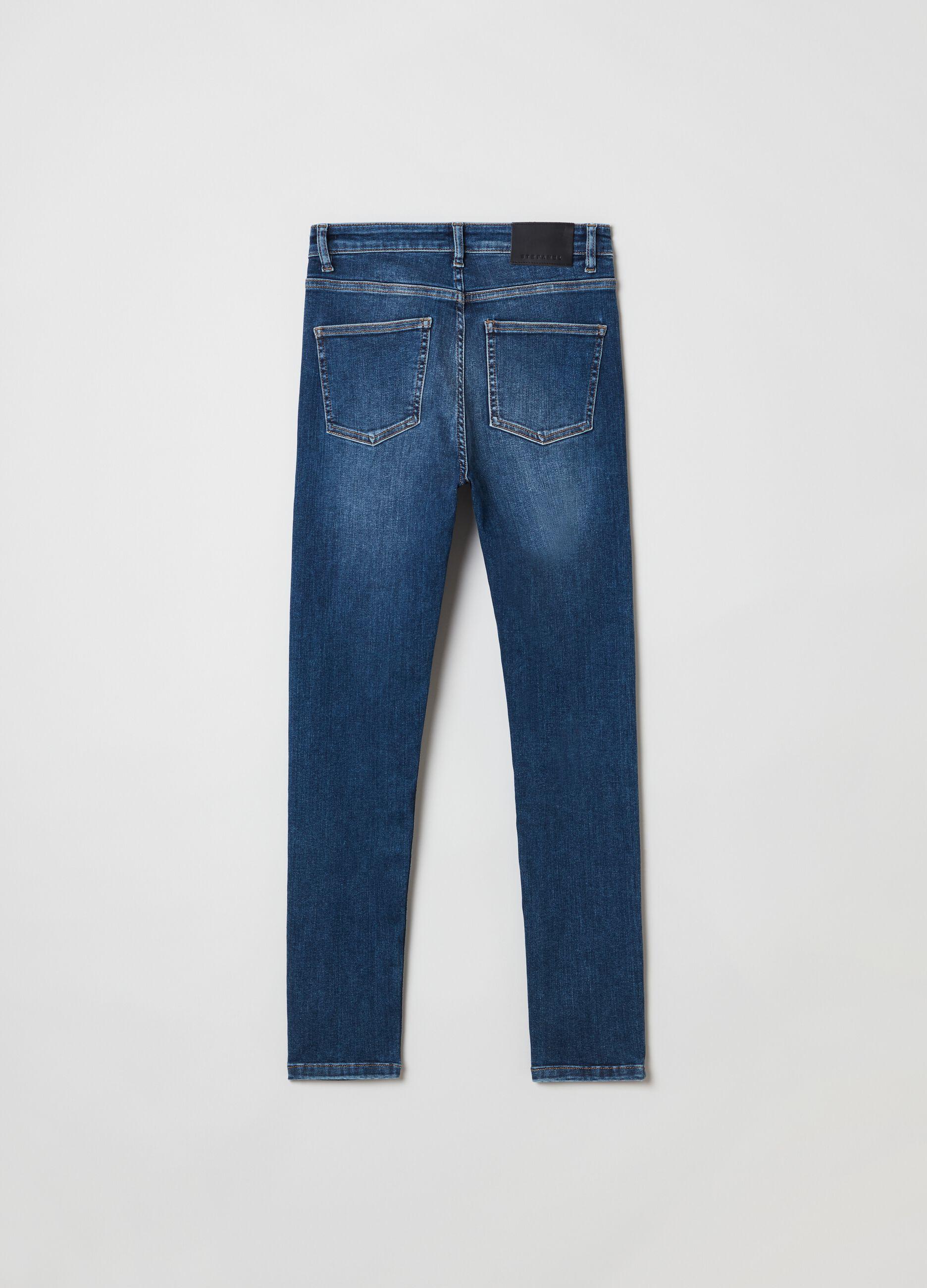 Jeans skinny fit in cotone super stretch Denim