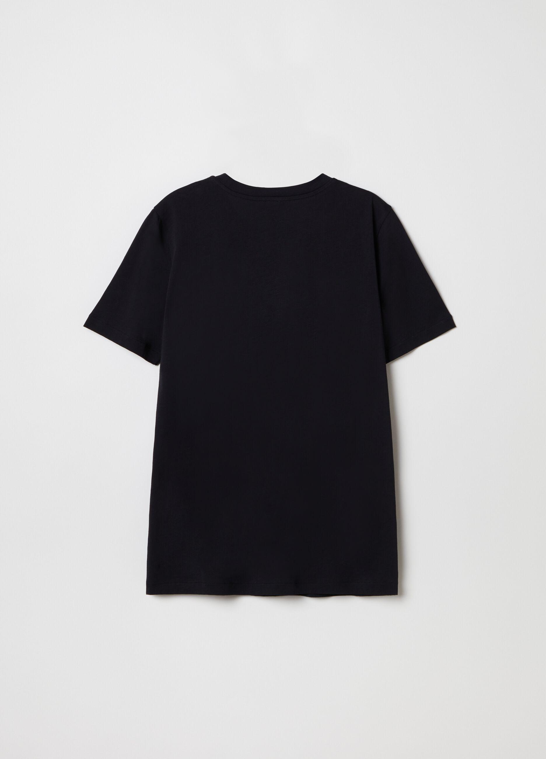 T-shirt in cotone Supima Nero