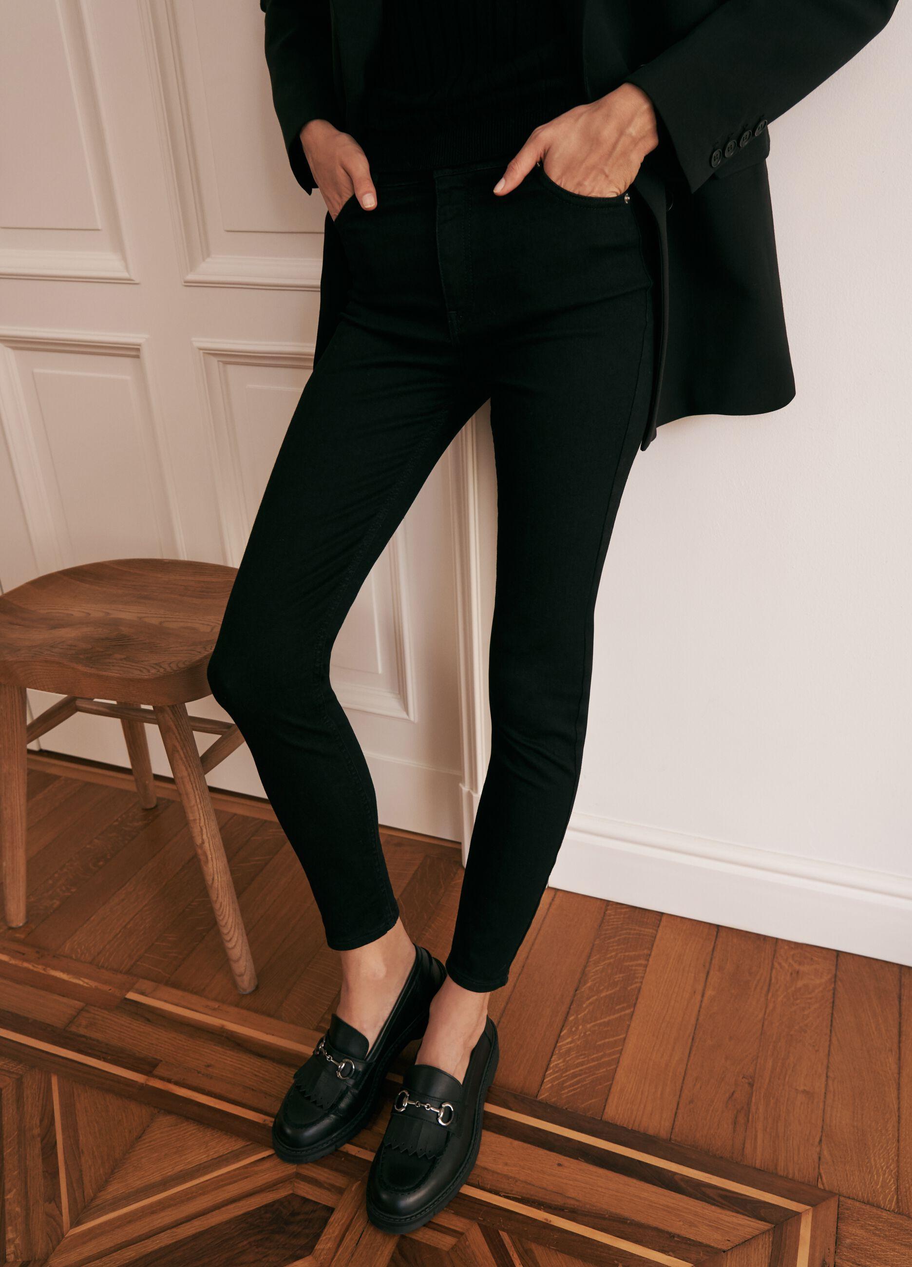 Skinny fit jeans in super stretch cotton Black