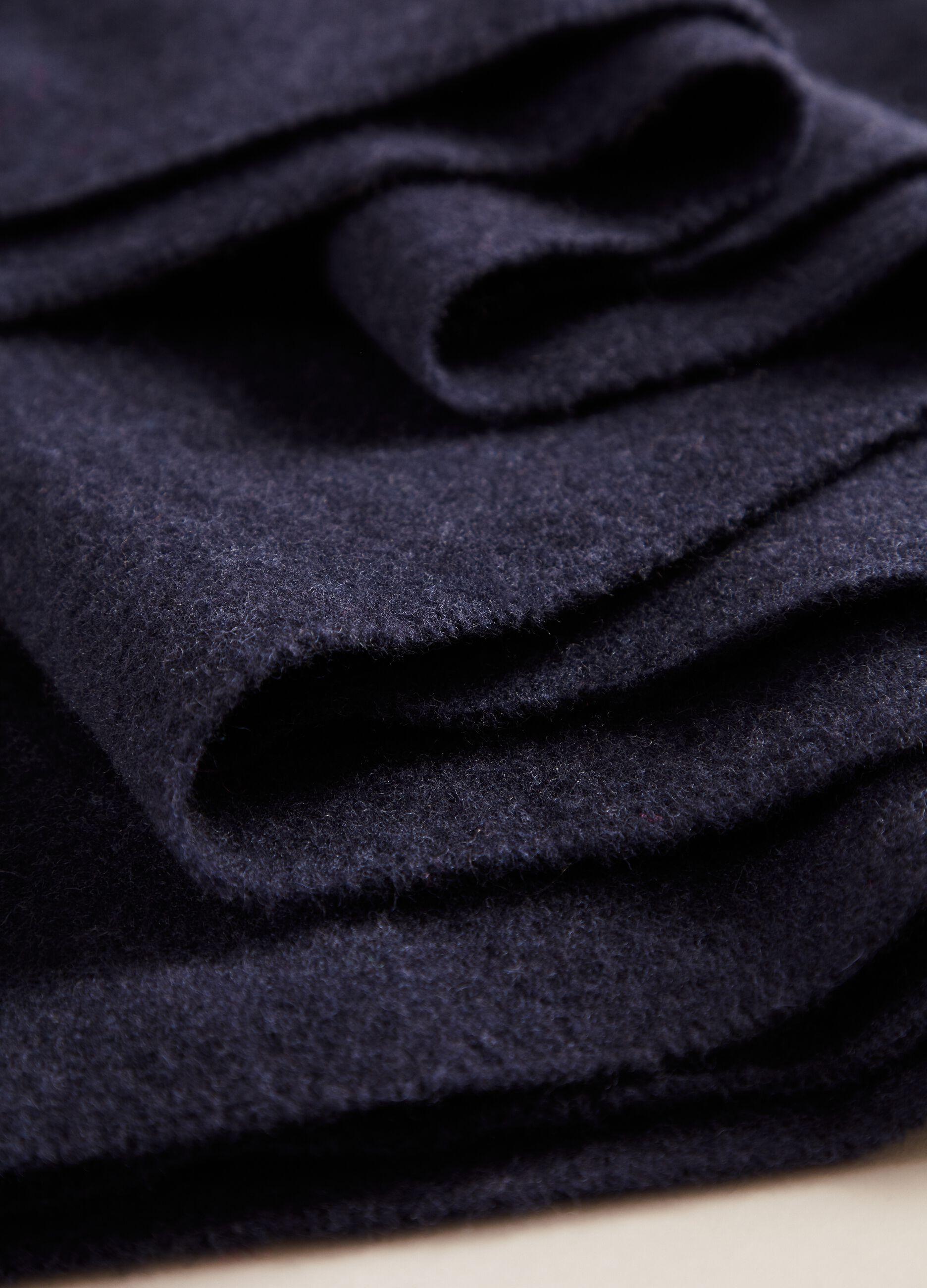 Sciarpa in pura lana vergine Blu