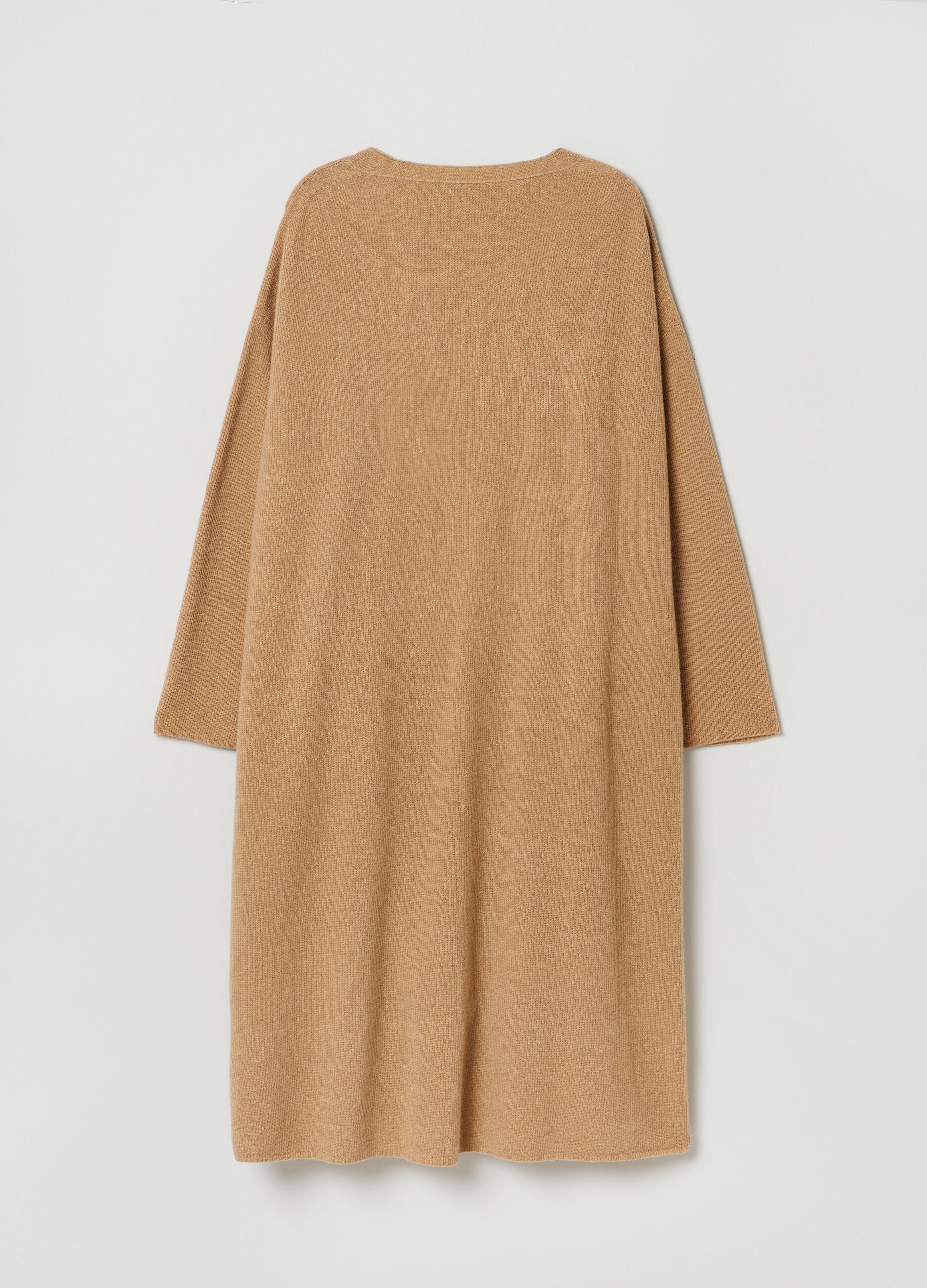 Cardigan extra lungo in pura lana vergine Marrone