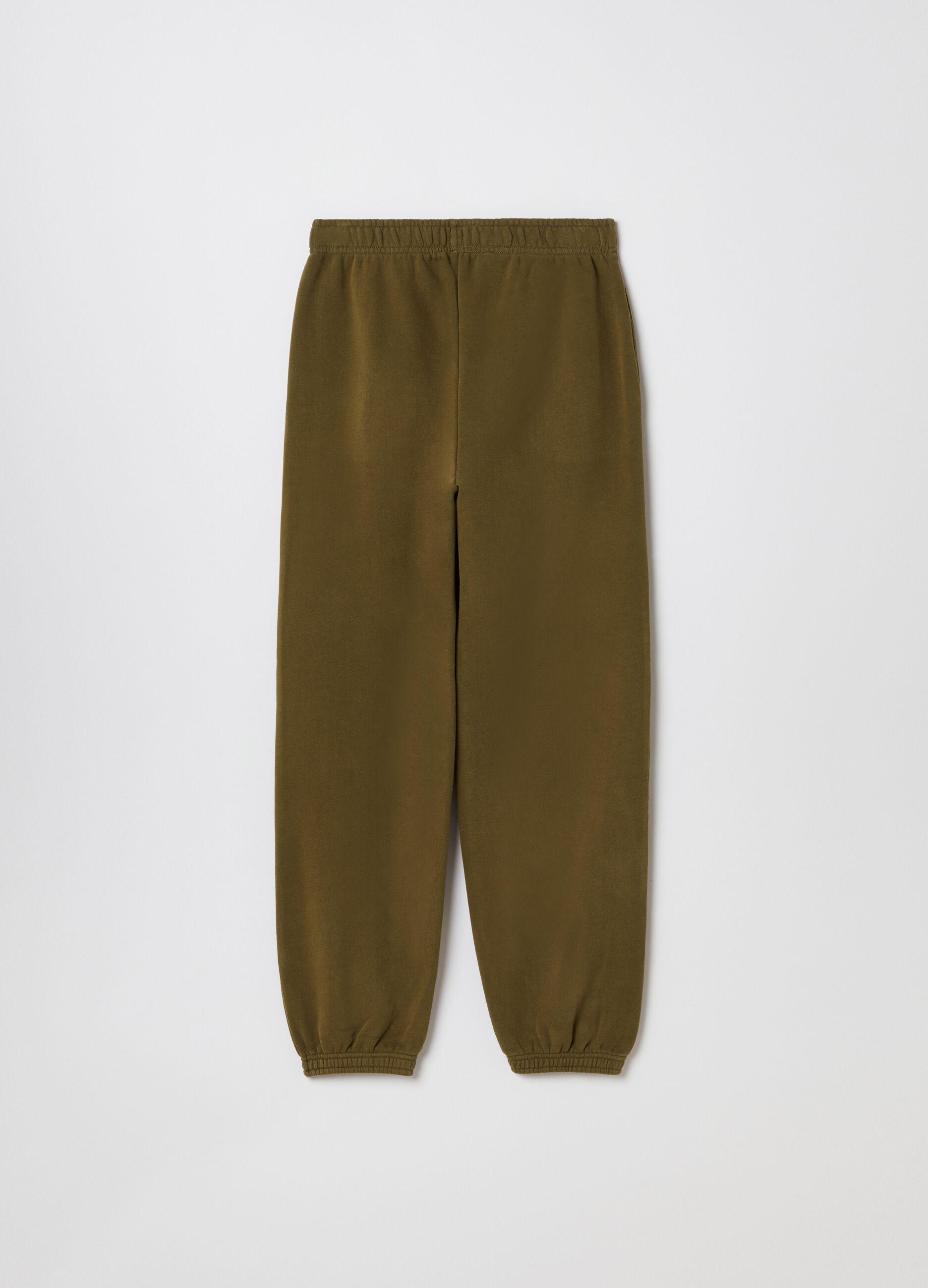 Pantalone jogging in felpa Verde