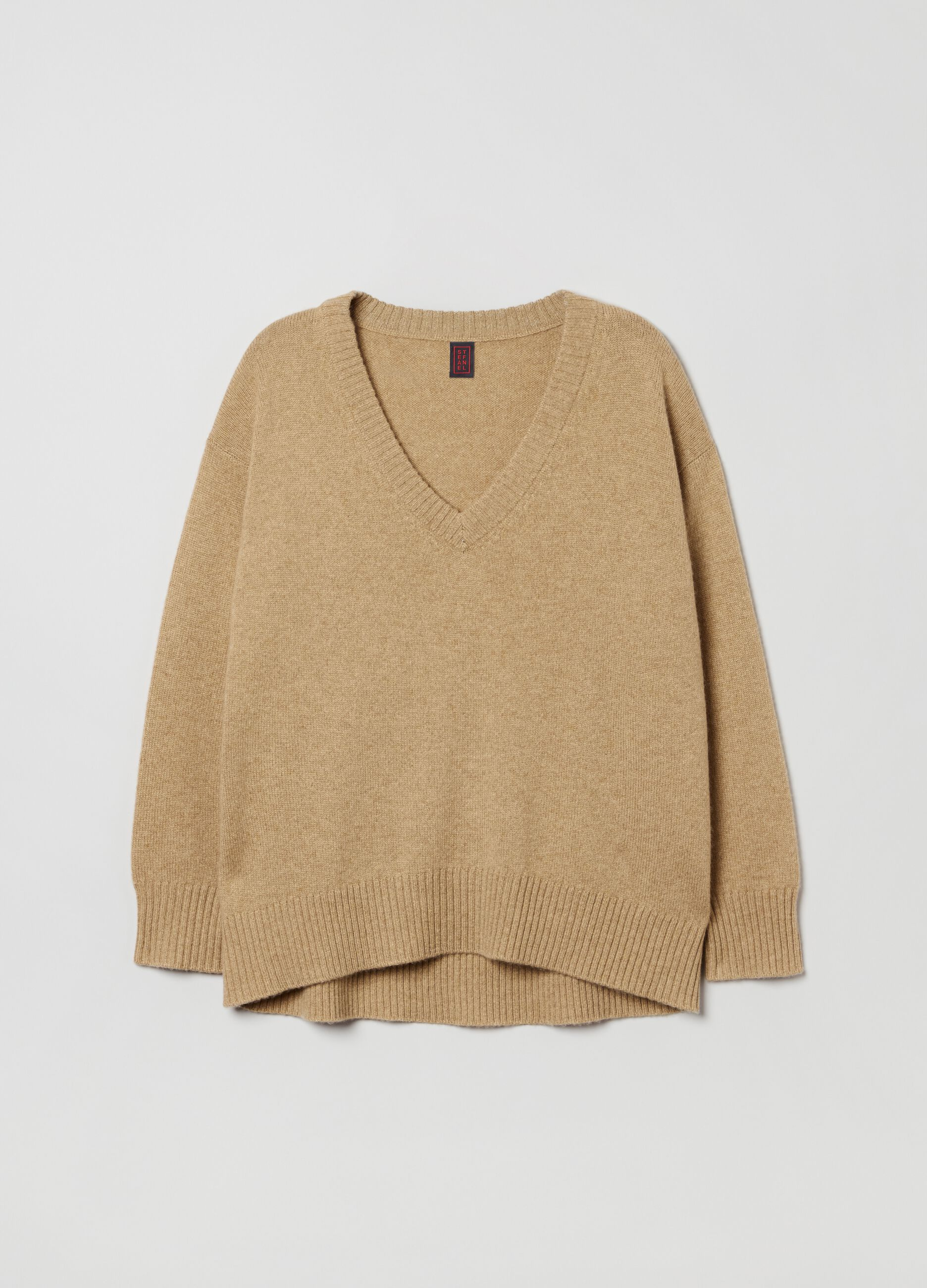 Pullover in puro cachemire oversize Marrone
