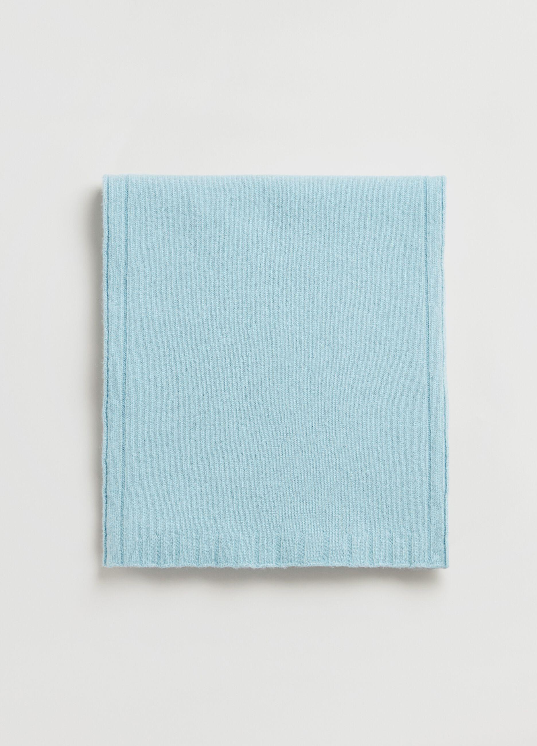 Sciarpa in pura lana Azzurro