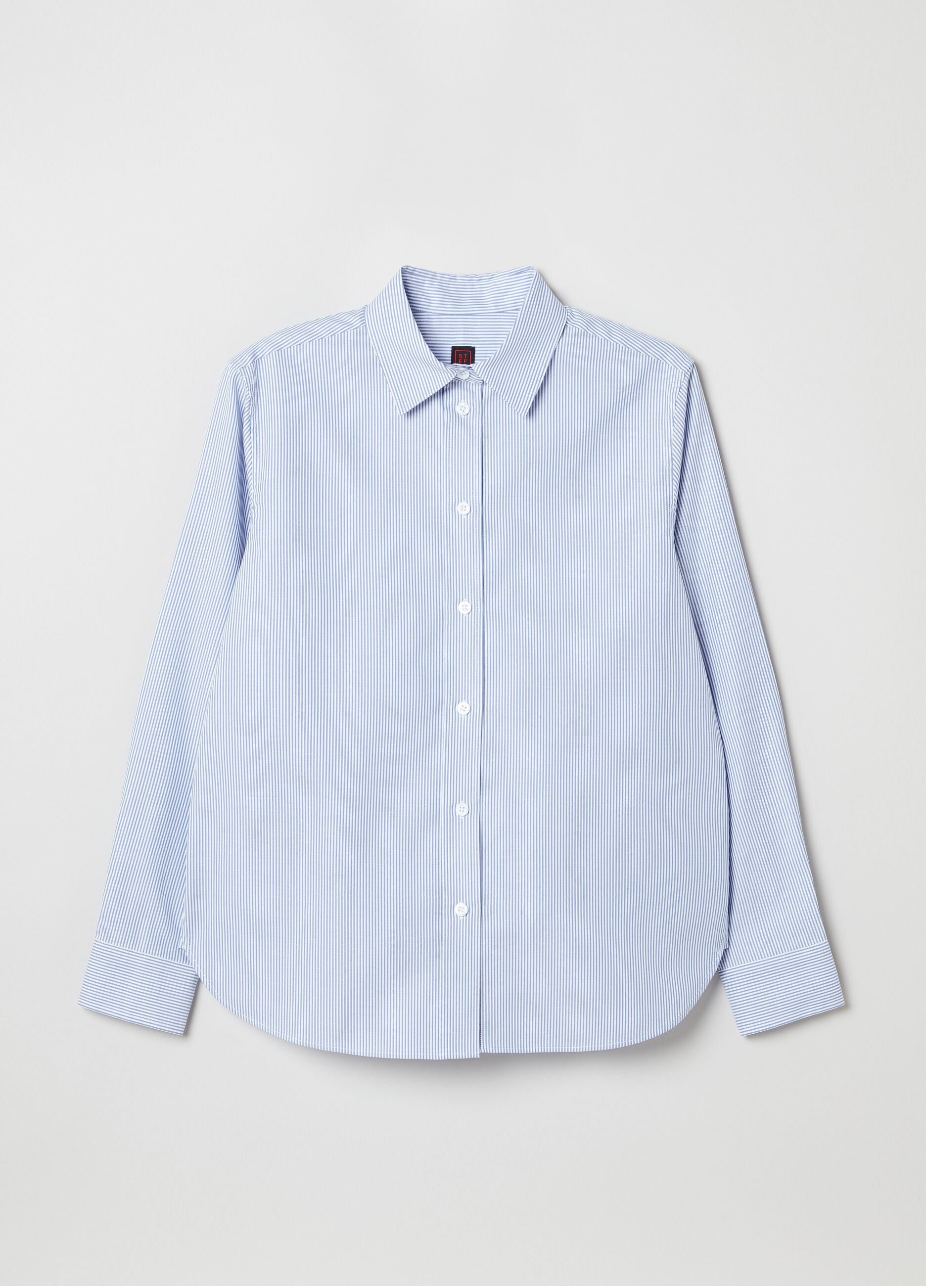 Camicia in popeline a righe Multicolor