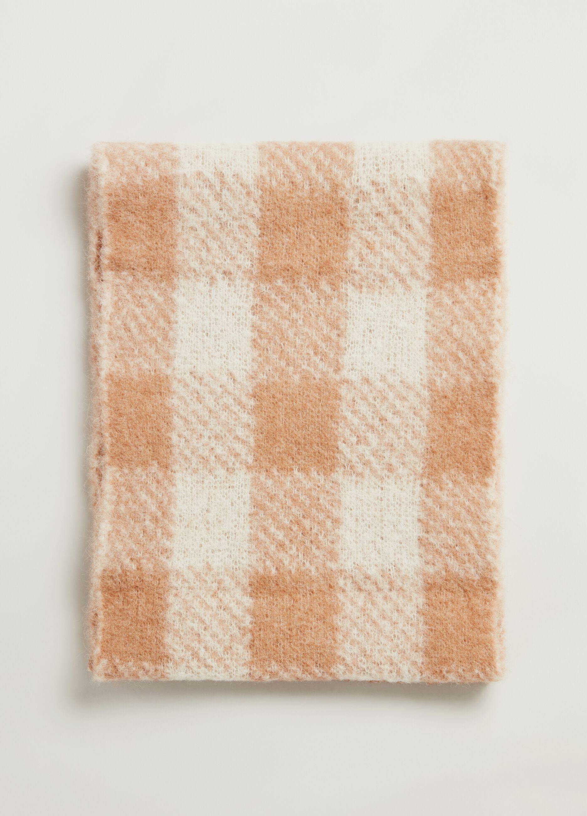 Maxi sciarpa in lana di alpaca Multicolor
