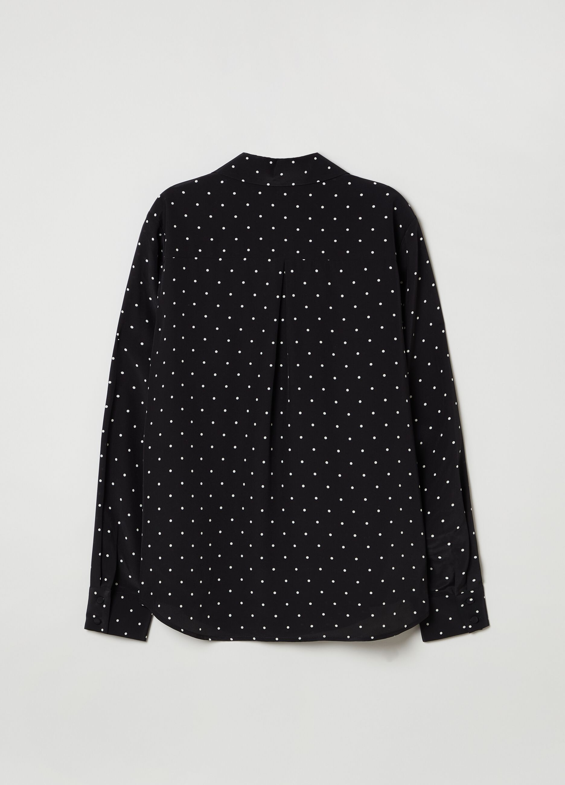 Silk shirt with lapel collar Multicolor