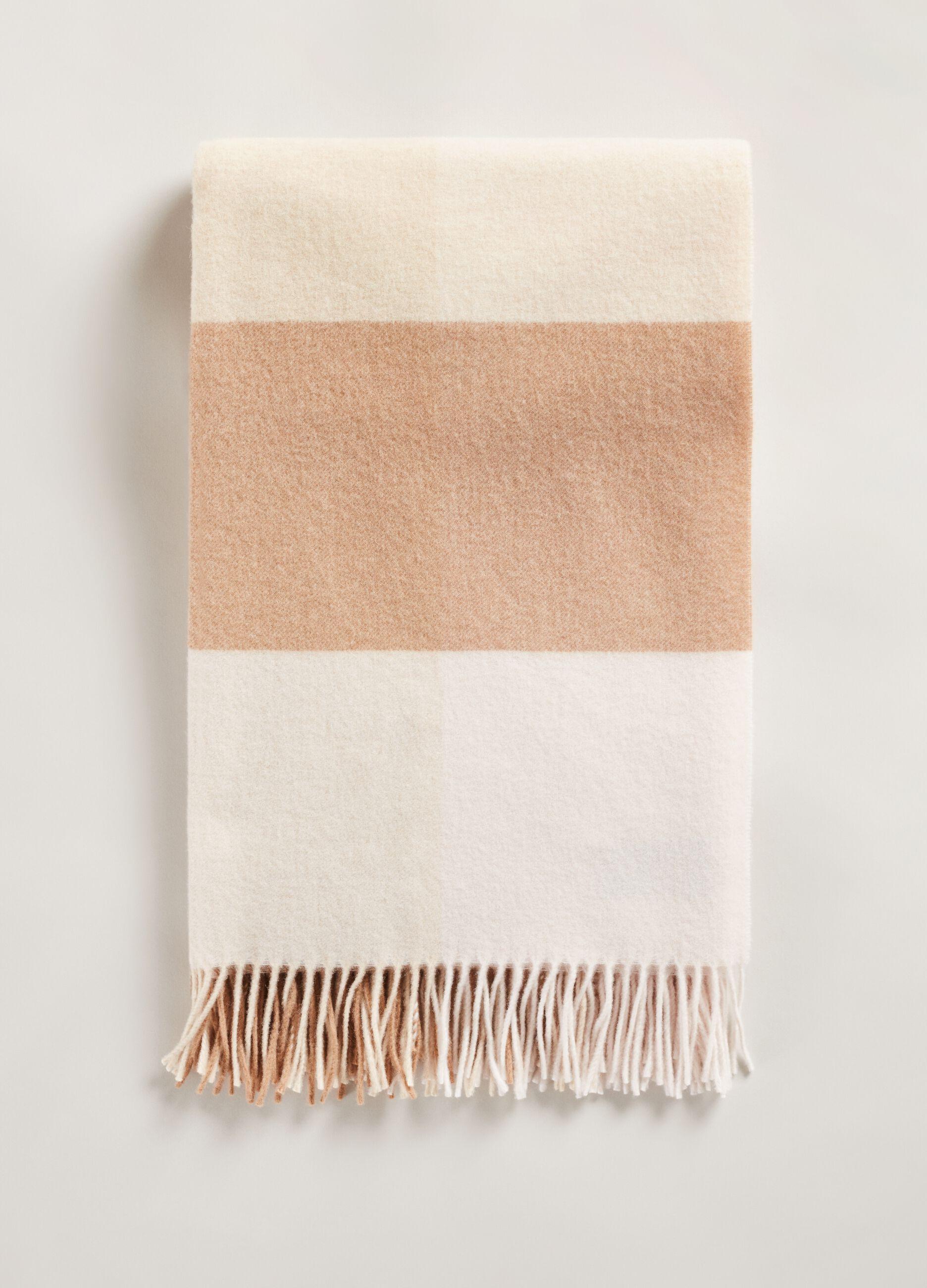 Sciarpa poncho in pura lana Multicolor