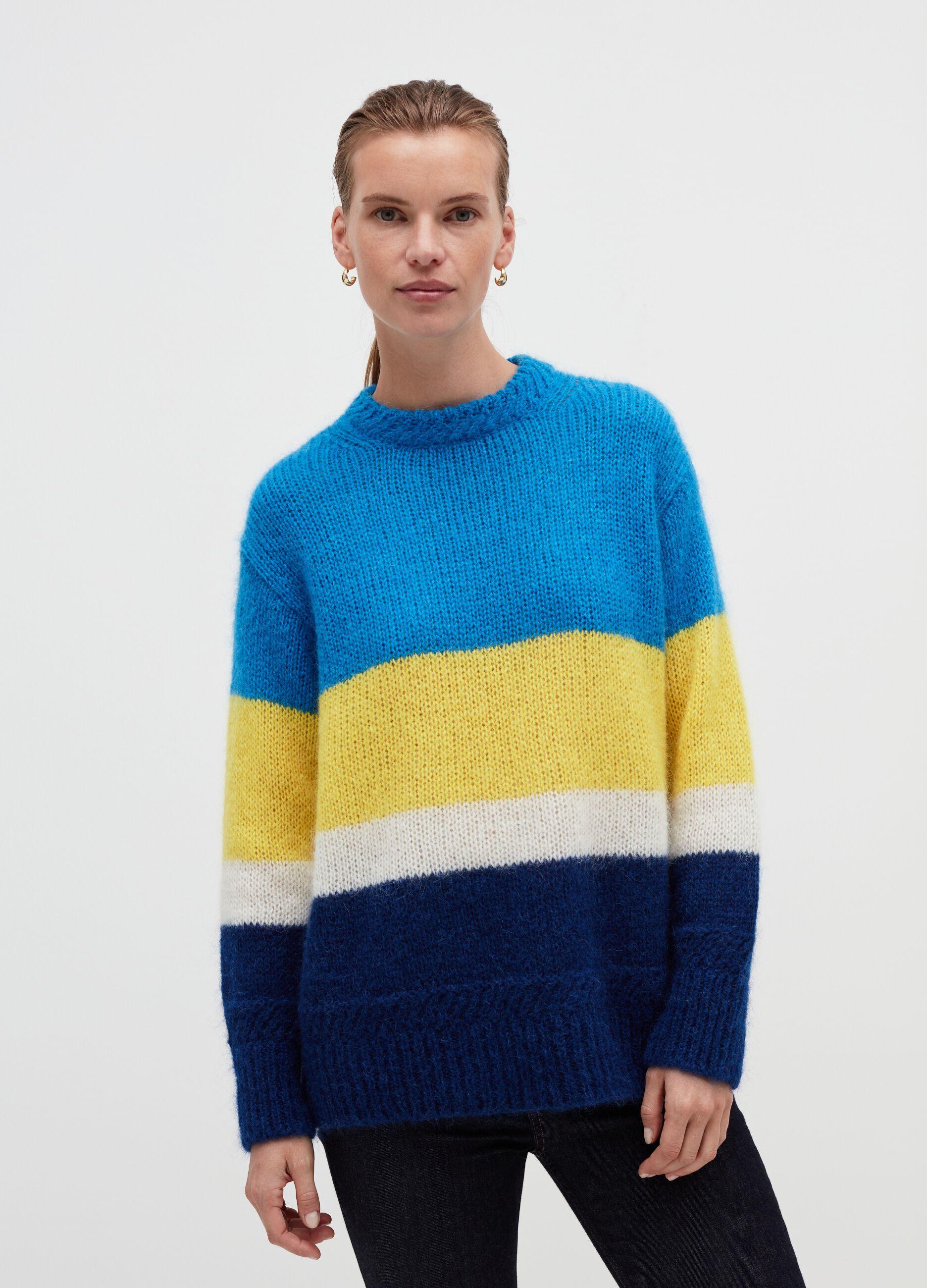 Girocollo oversize color block Multicolor