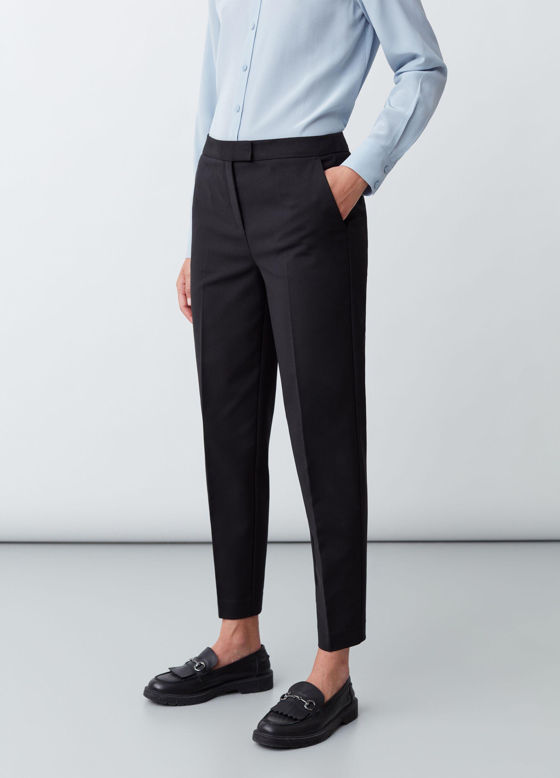 Pantalone in tessuto strutturato Nero