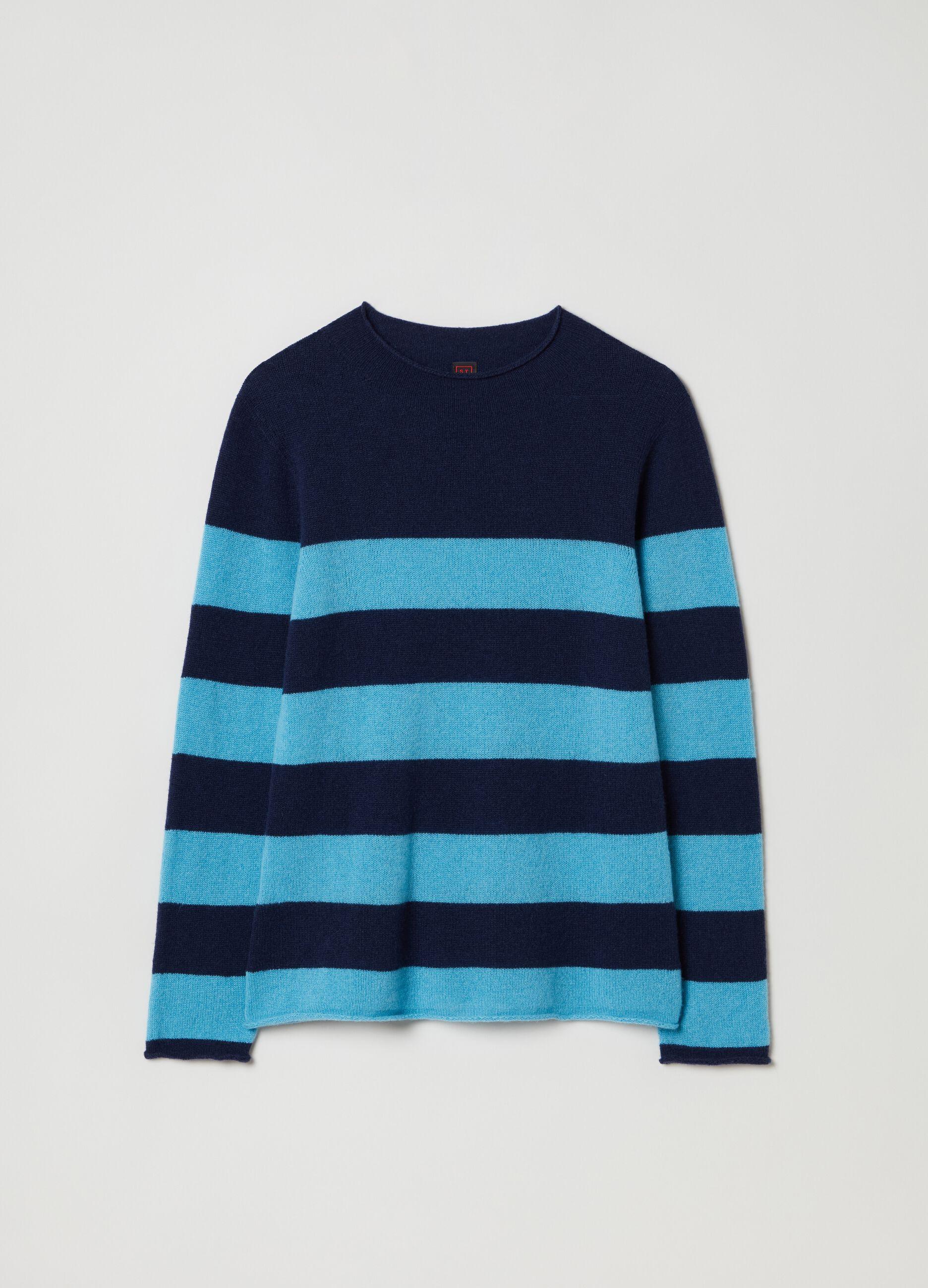 Pullover in cachemire a righe Multicolor