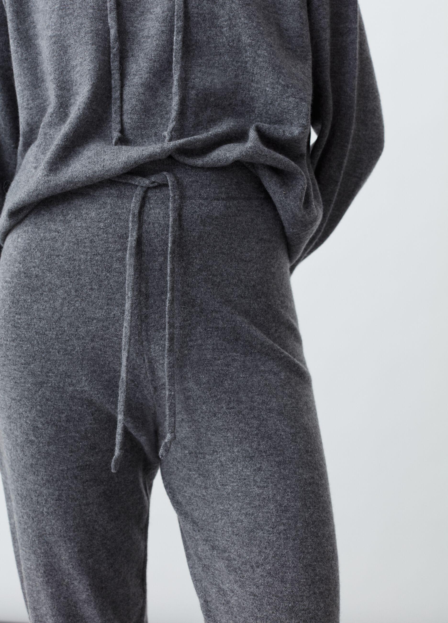 Joggers in maglia di puro cachemire Grigio