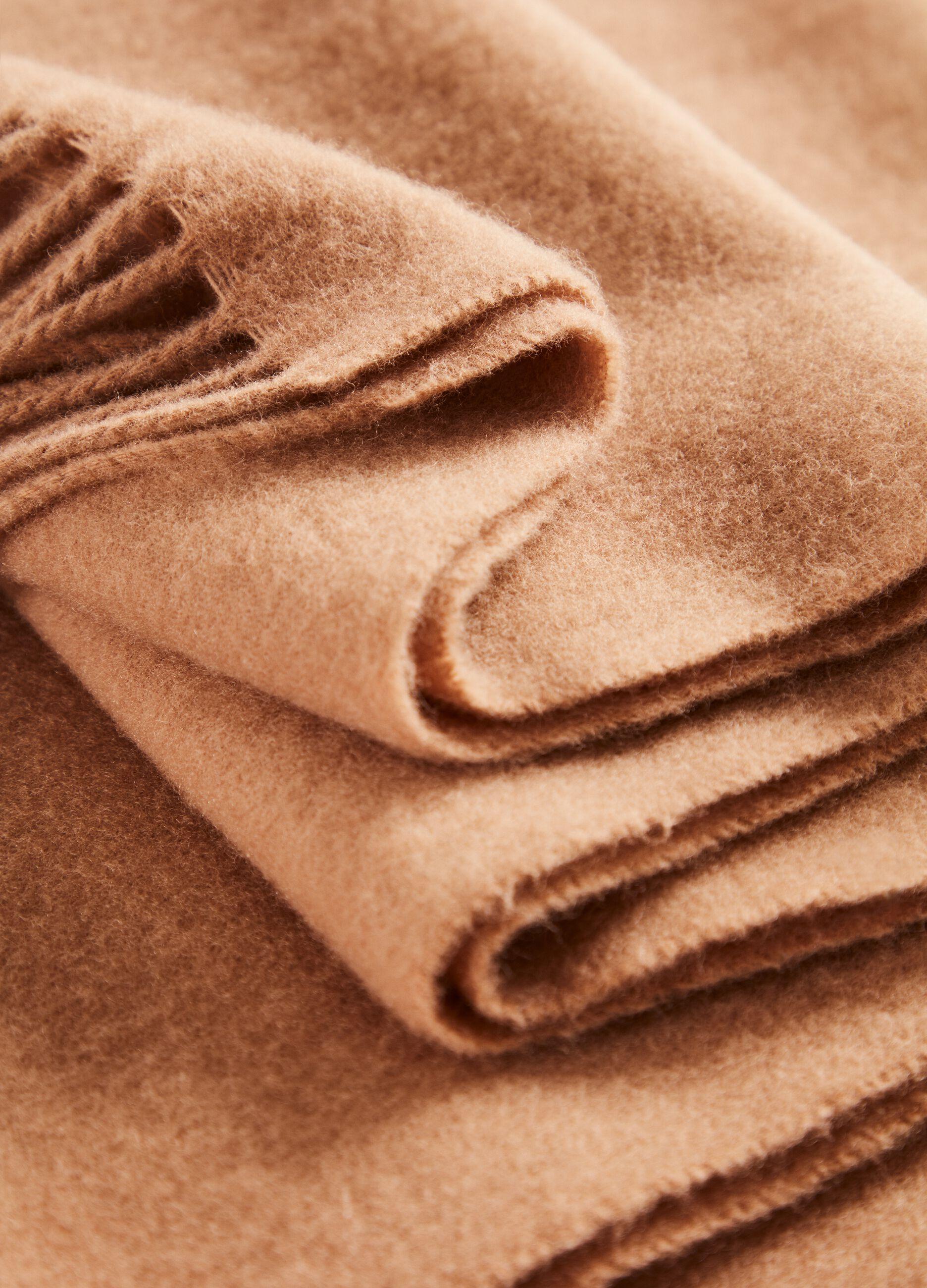 Maxi sciarpa in pura lana vergine Marrone