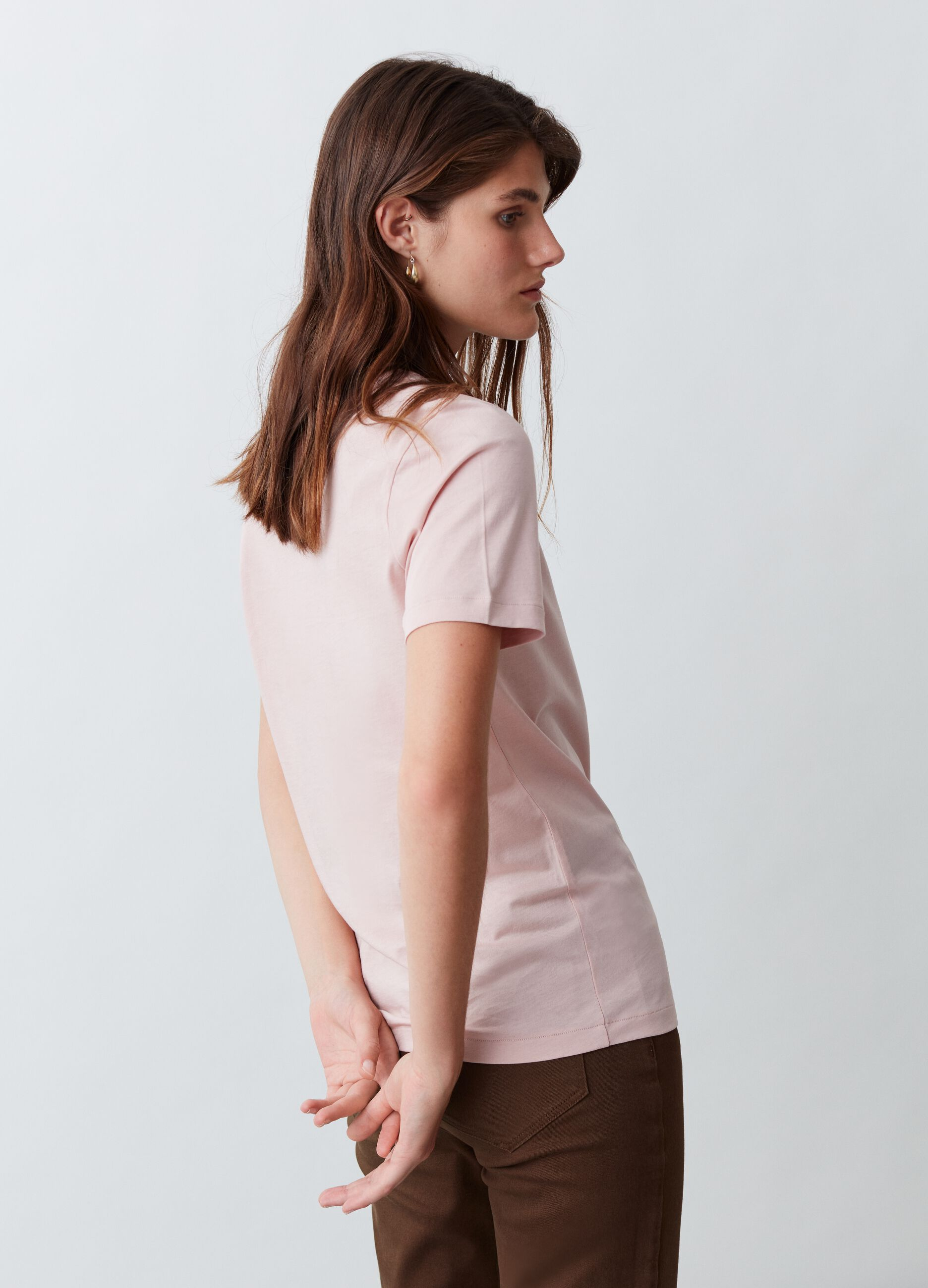 T-shirt in cotone Supima Rosa