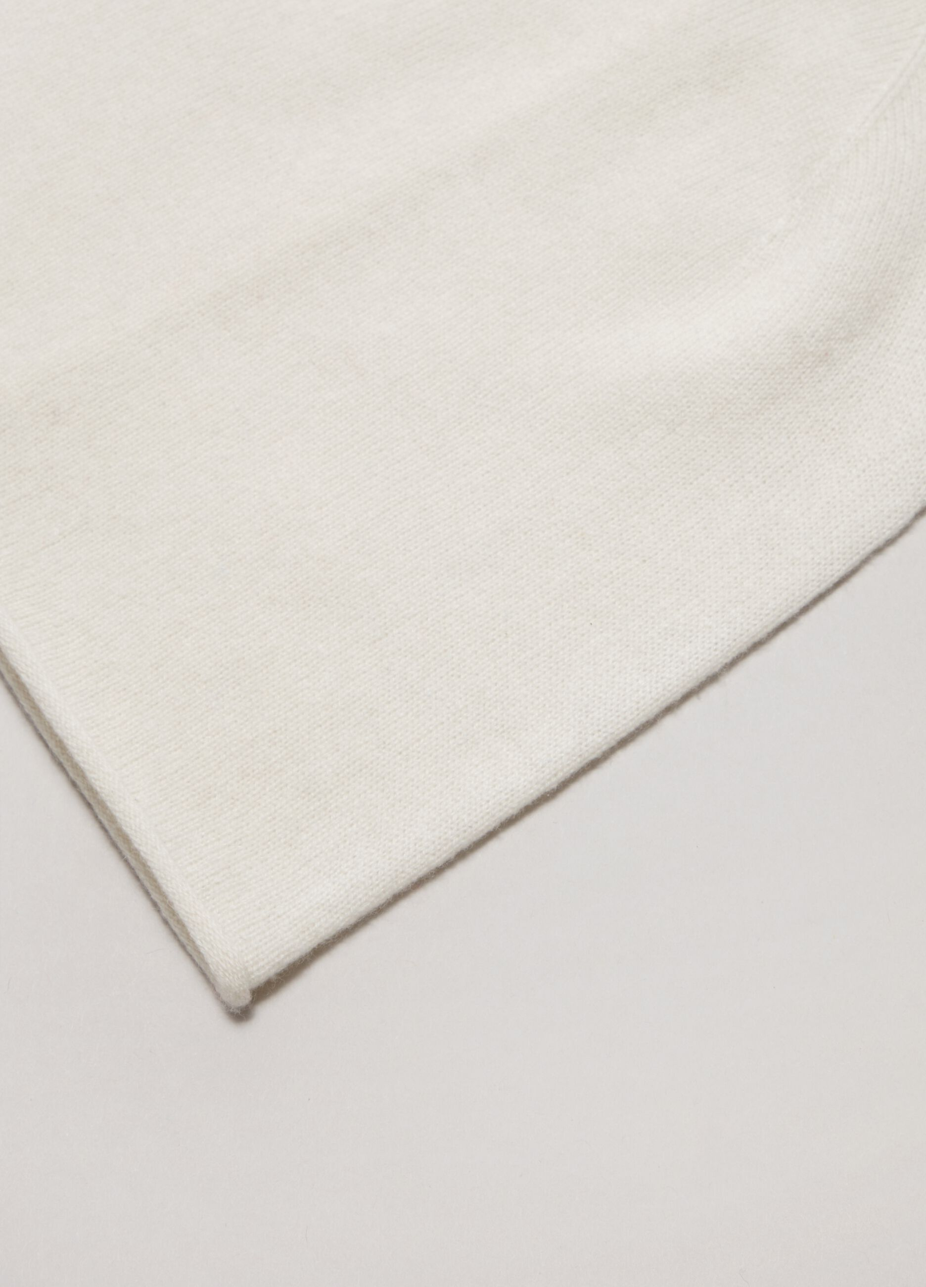 Cuffia in puro cachemire Bianco