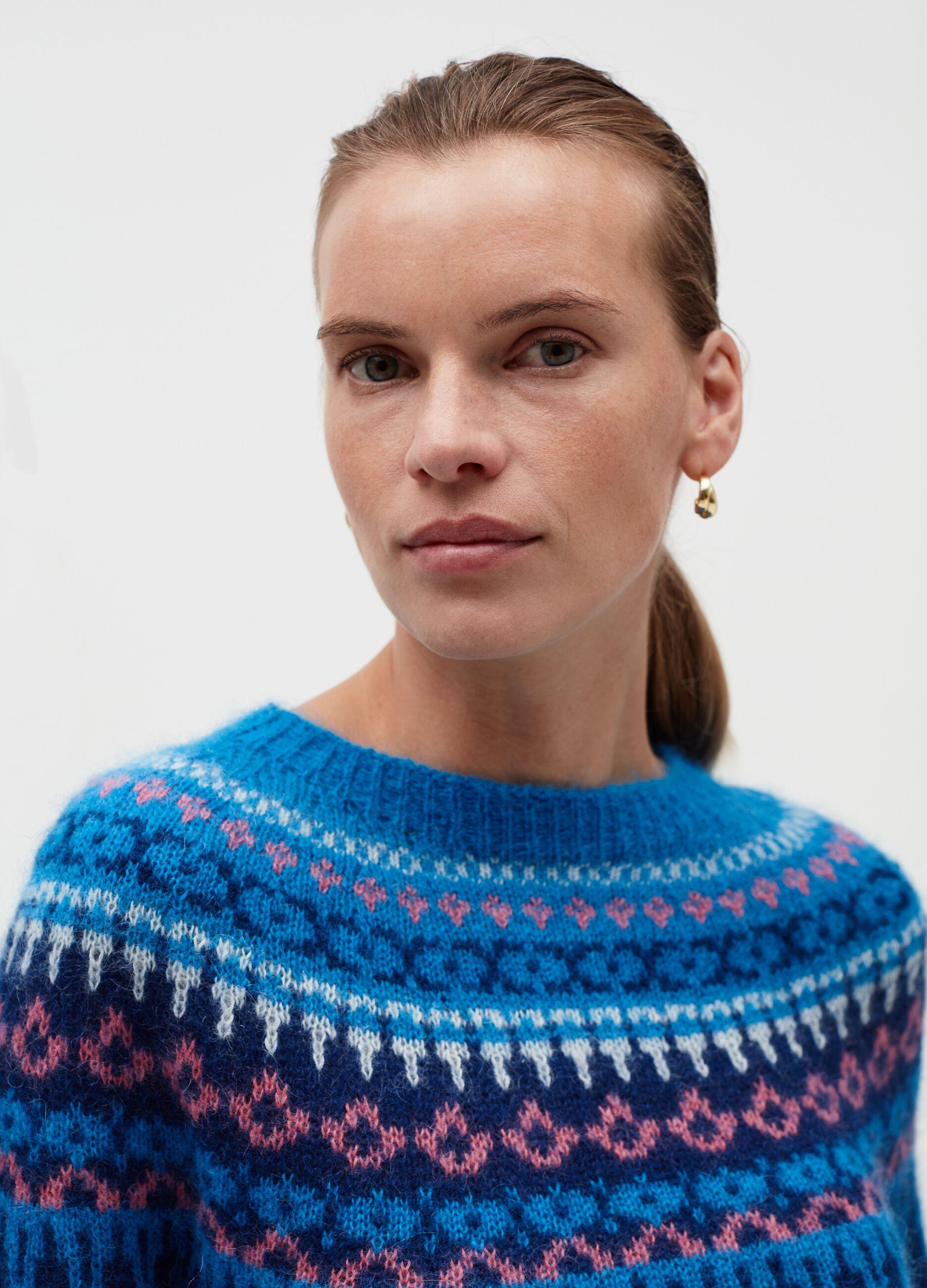 Pullover con lavorazione jacquard Multicolor