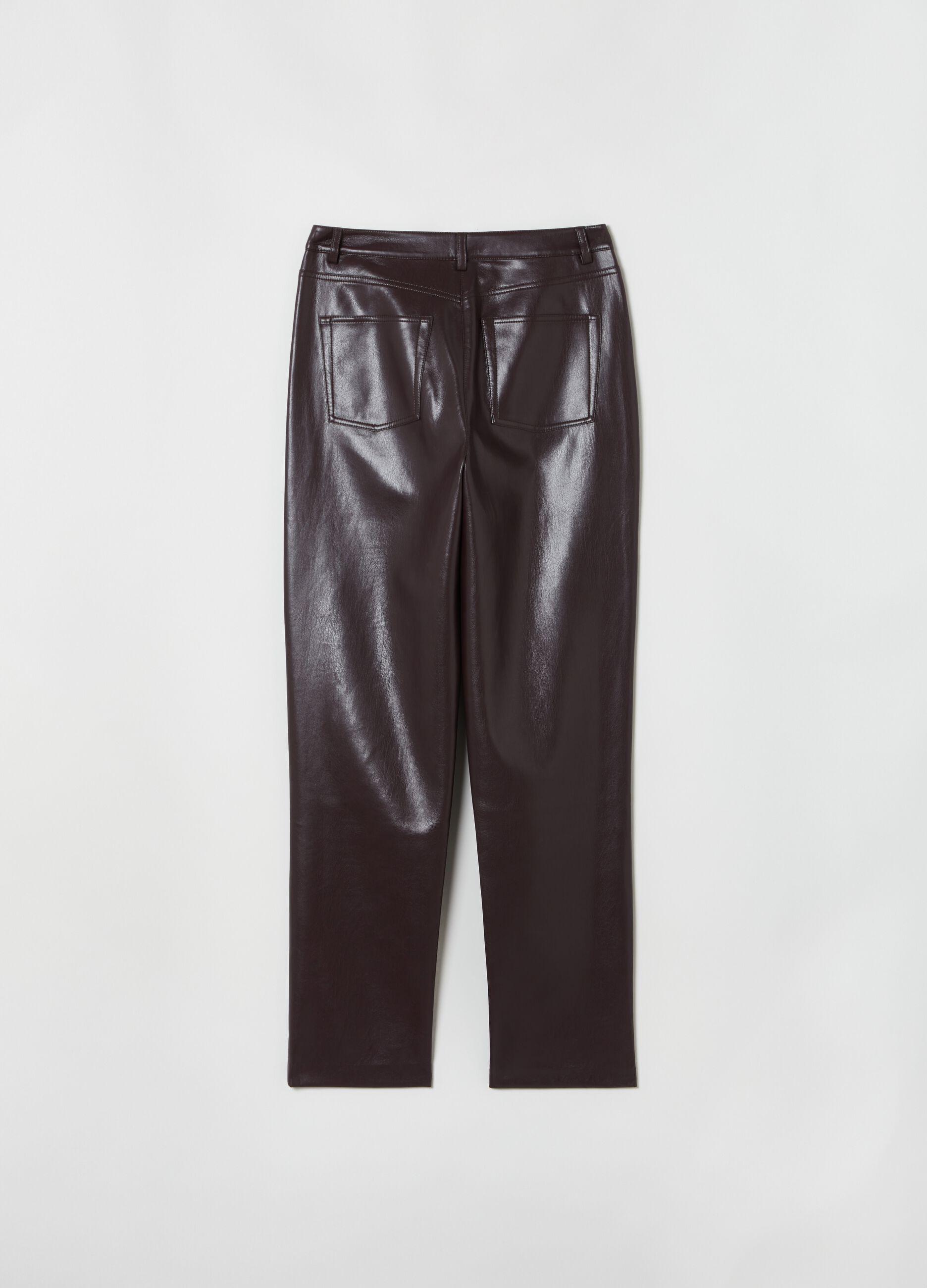 Pantalone slim fit cinque tasche Marrone