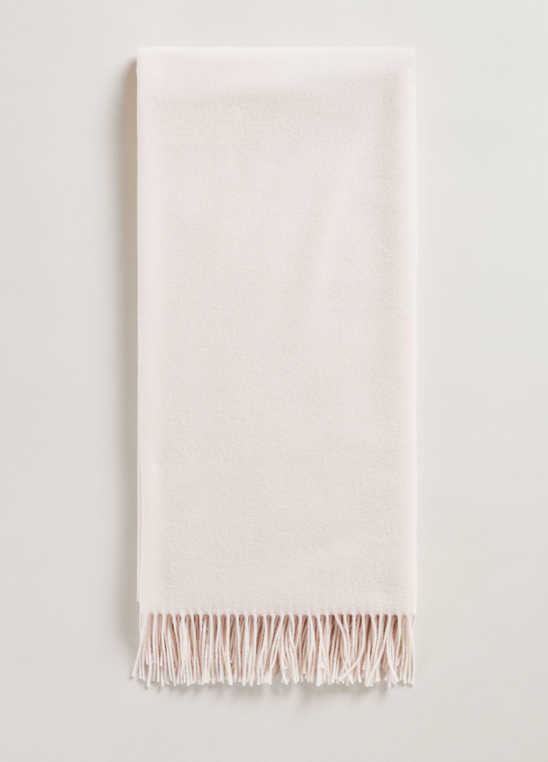 Sciarpa in pura lana vergine Bianco