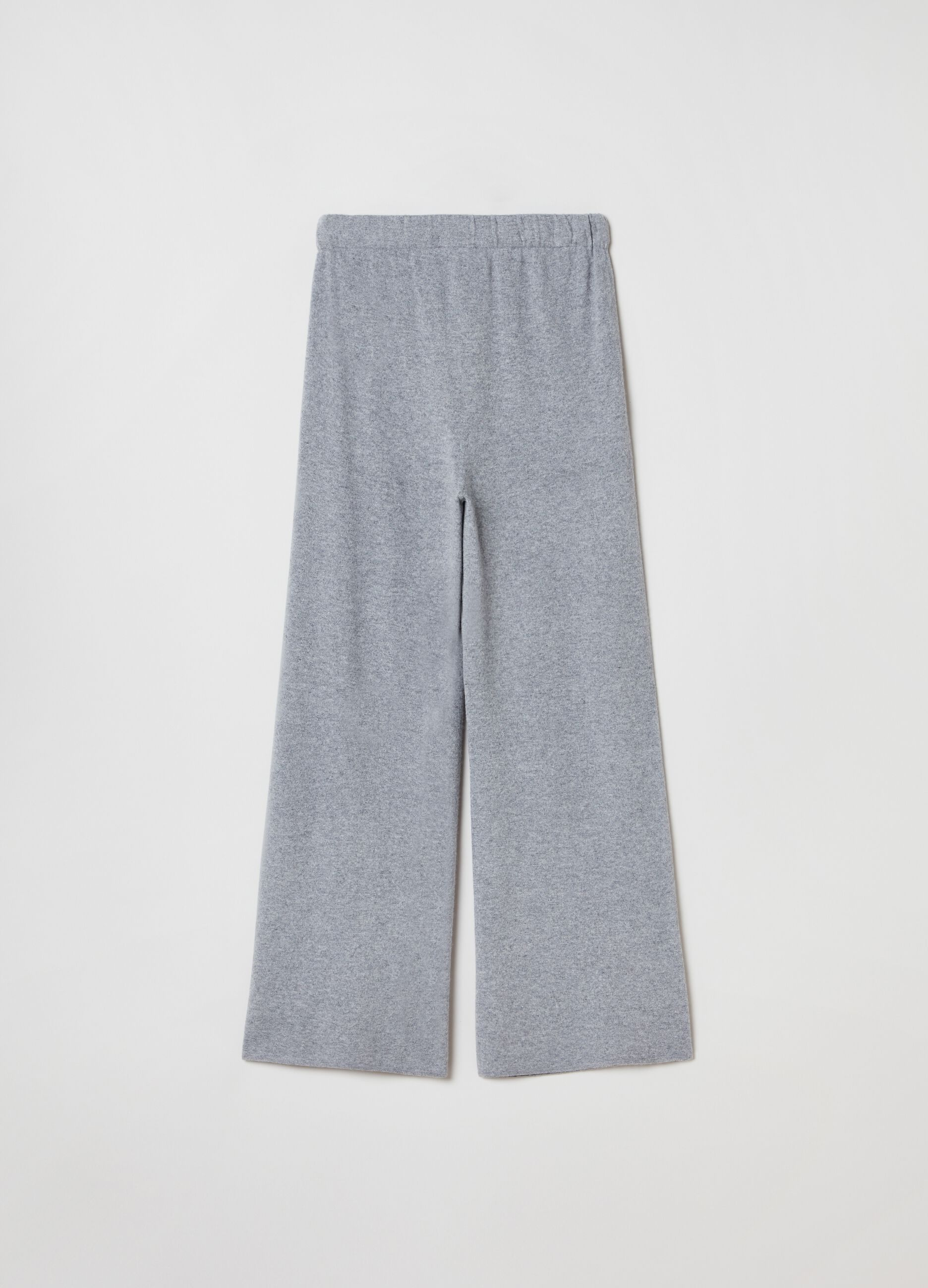 Knit trousers in wool and cashmere Grey