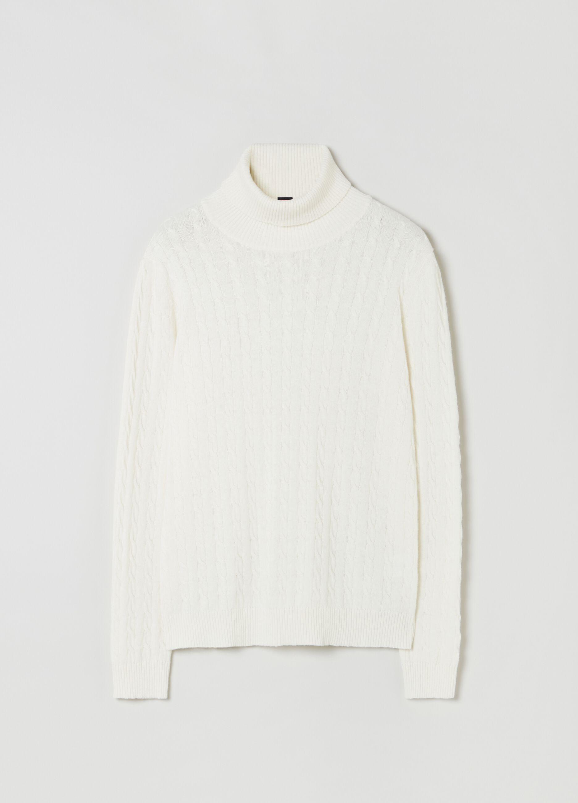 Dolcevita in puro cachemire Bianco