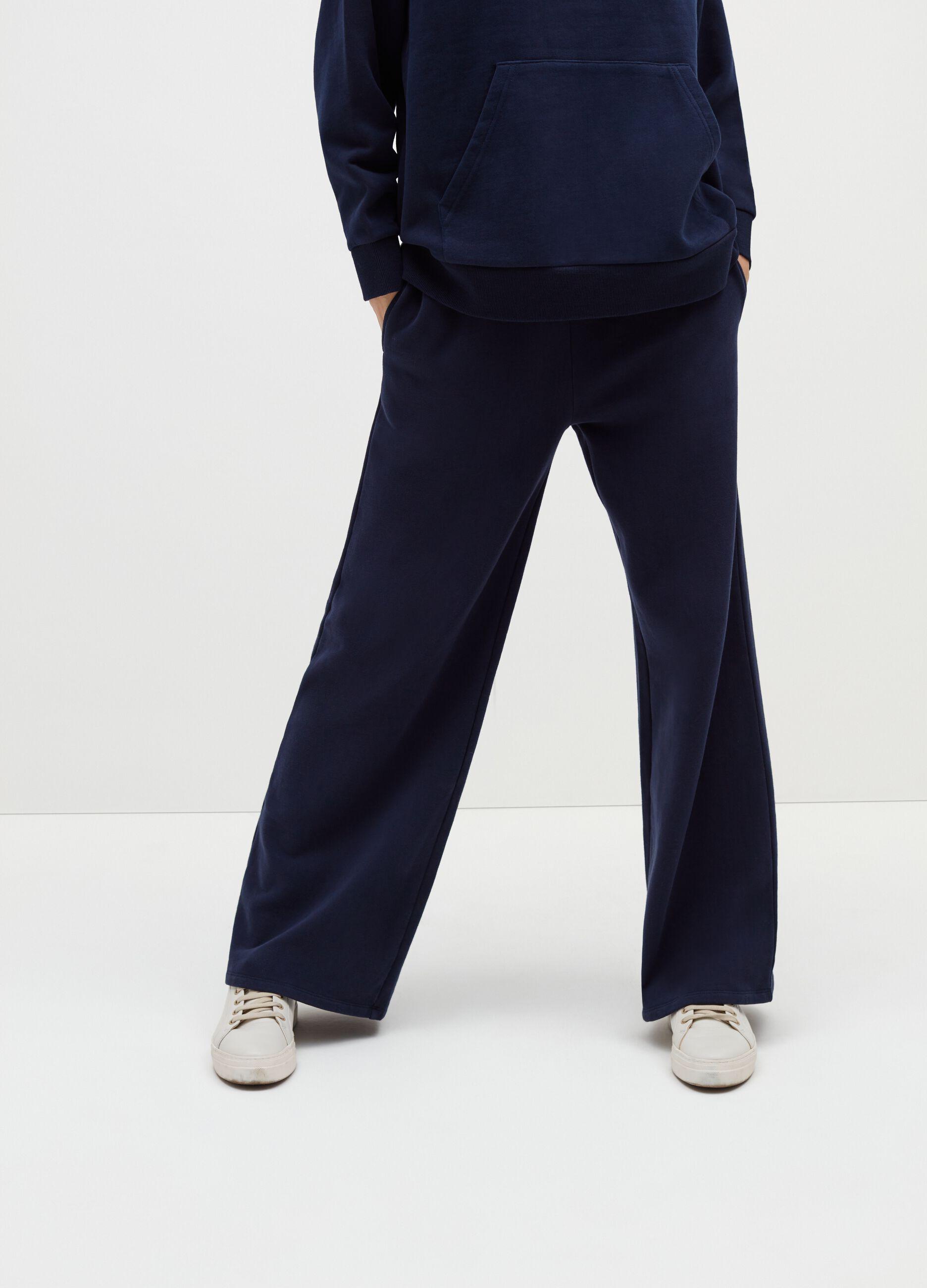 Pantalone wide leg in felpa Blu