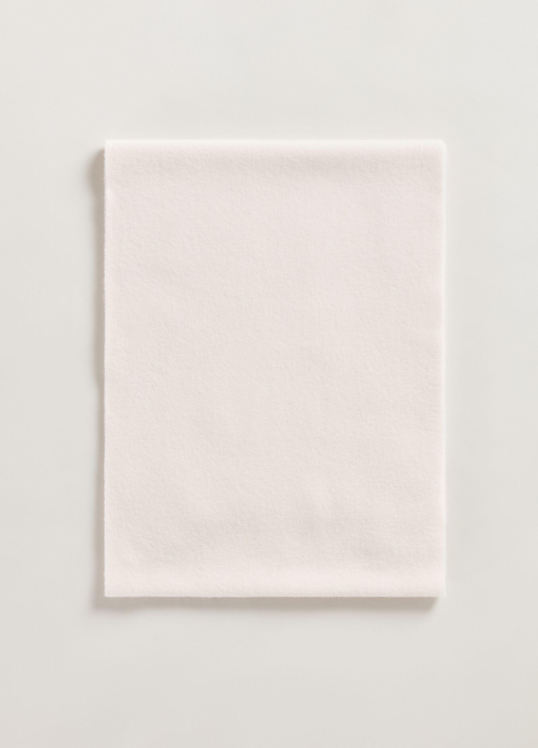 Maxi sciarpa in pura lana vergine Bianco