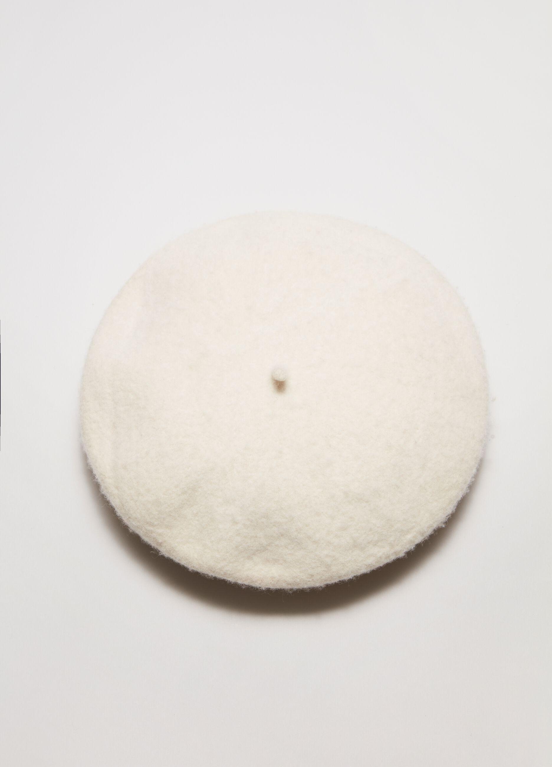 Basco in lana Bianco