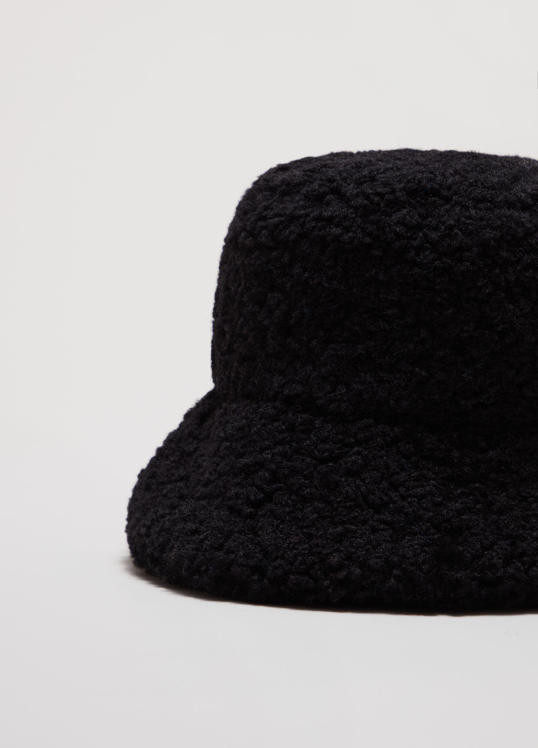 Cappello teddy a secchiello Nero
