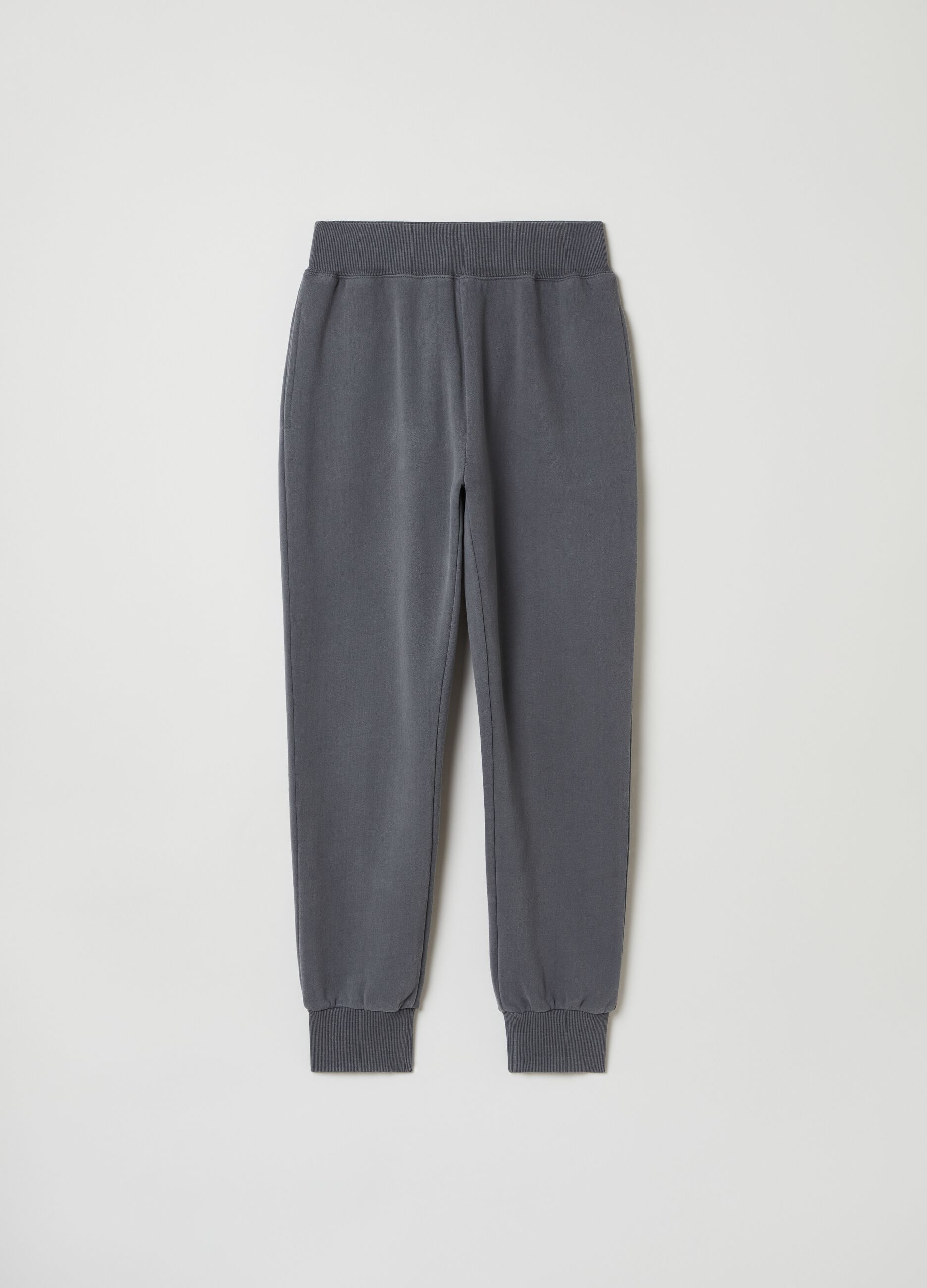 Pantalone jogging in felpa slim fit Grigio