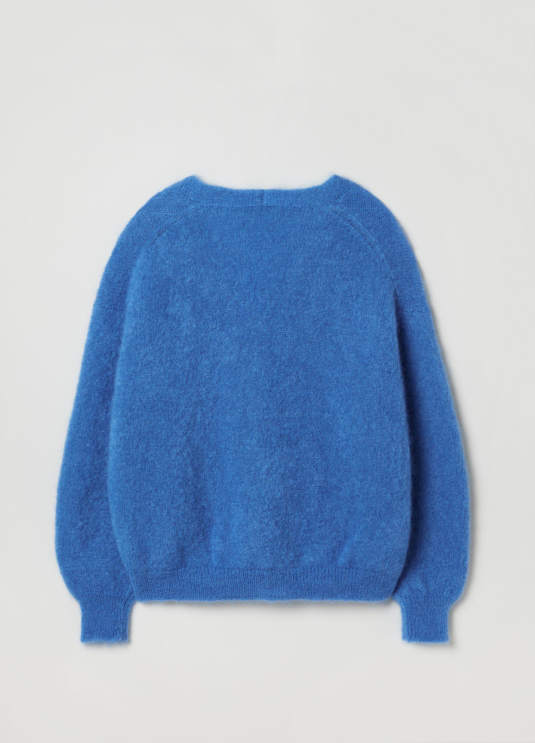 Cardigan oversize con bottoni Blu