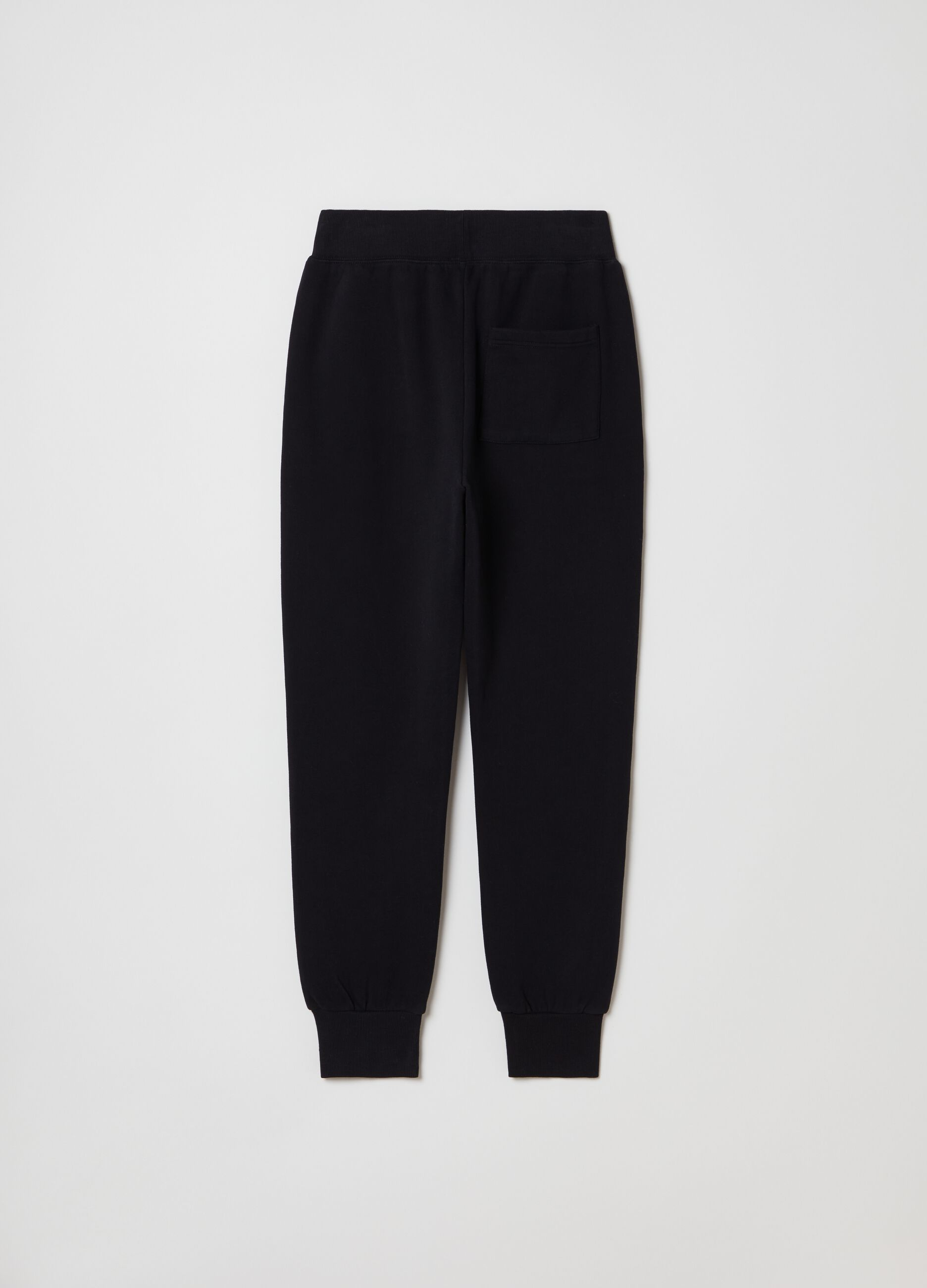 Pantalone jogging in felpa slim fit Nero